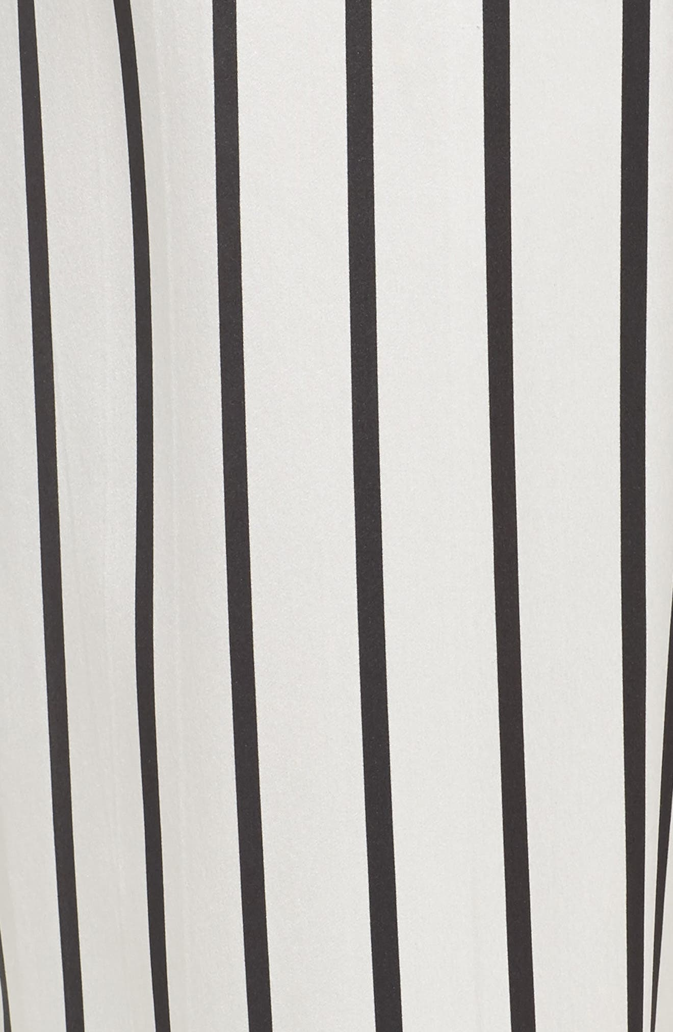 Stripe Silk Pajama Pants,                             Alternate thumbnail 7, color,                             Jet Black Stripe