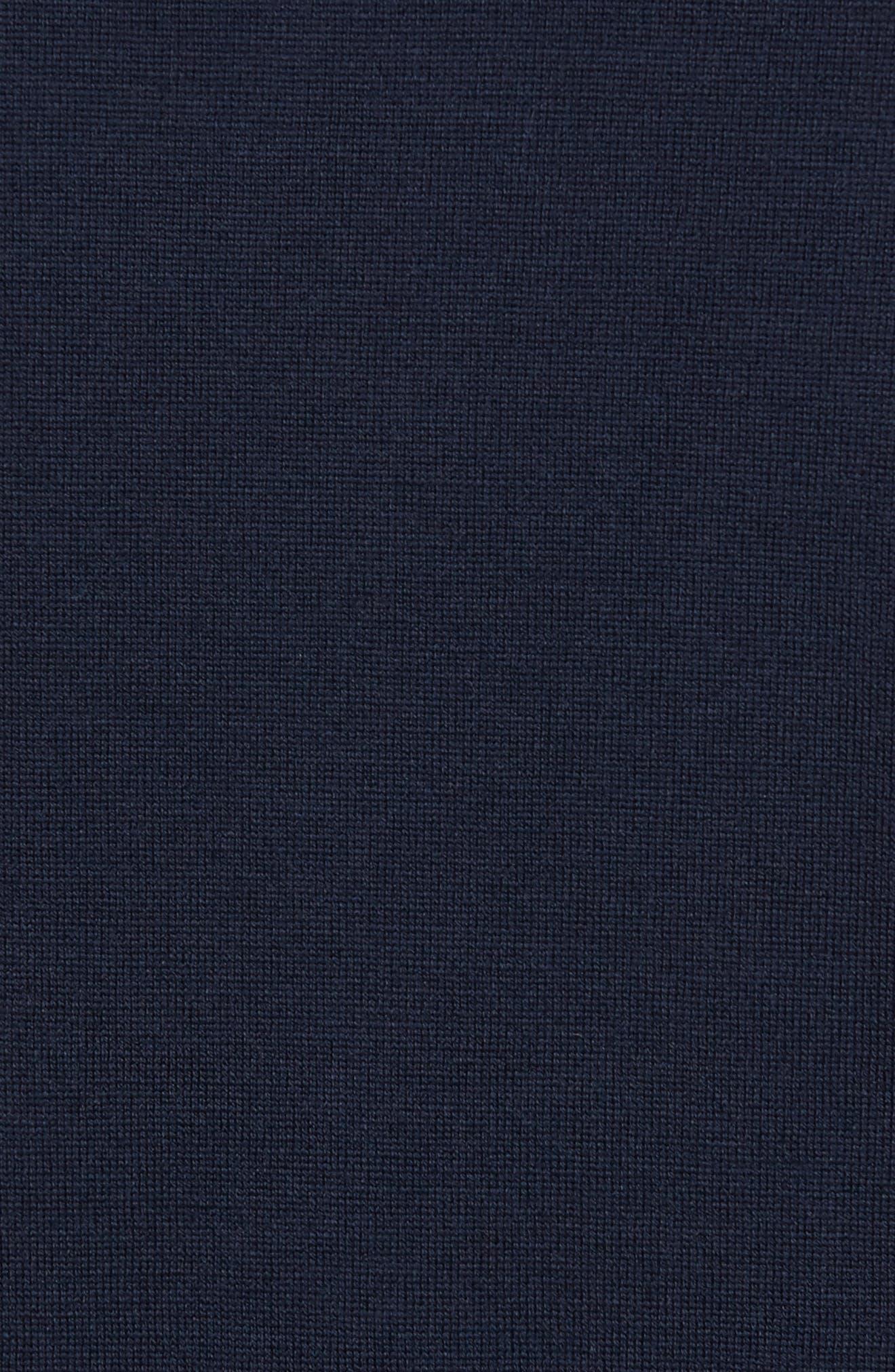 Standard Fit Wool Cardigan,                             Alternate thumbnail 5, color,                             Midnight