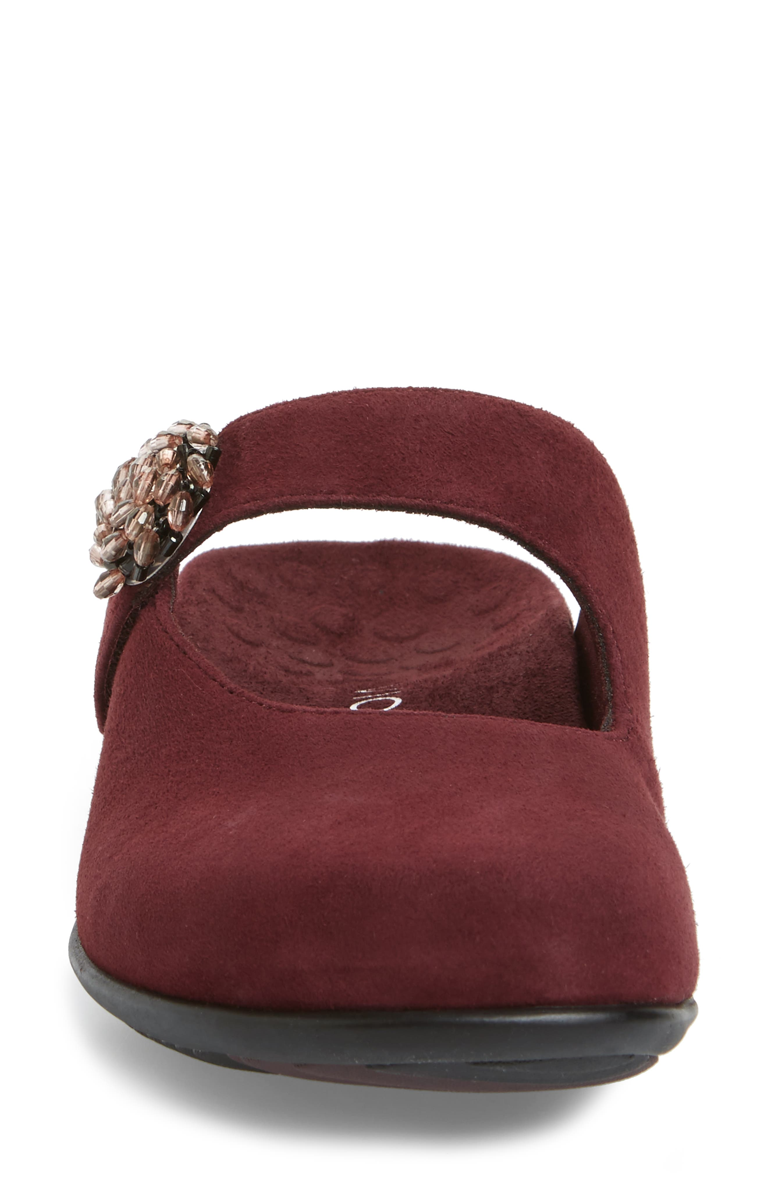 Rest Joan Mary Jane Mule,                             Alternate thumbnail 4, color,                             Merlot Suede