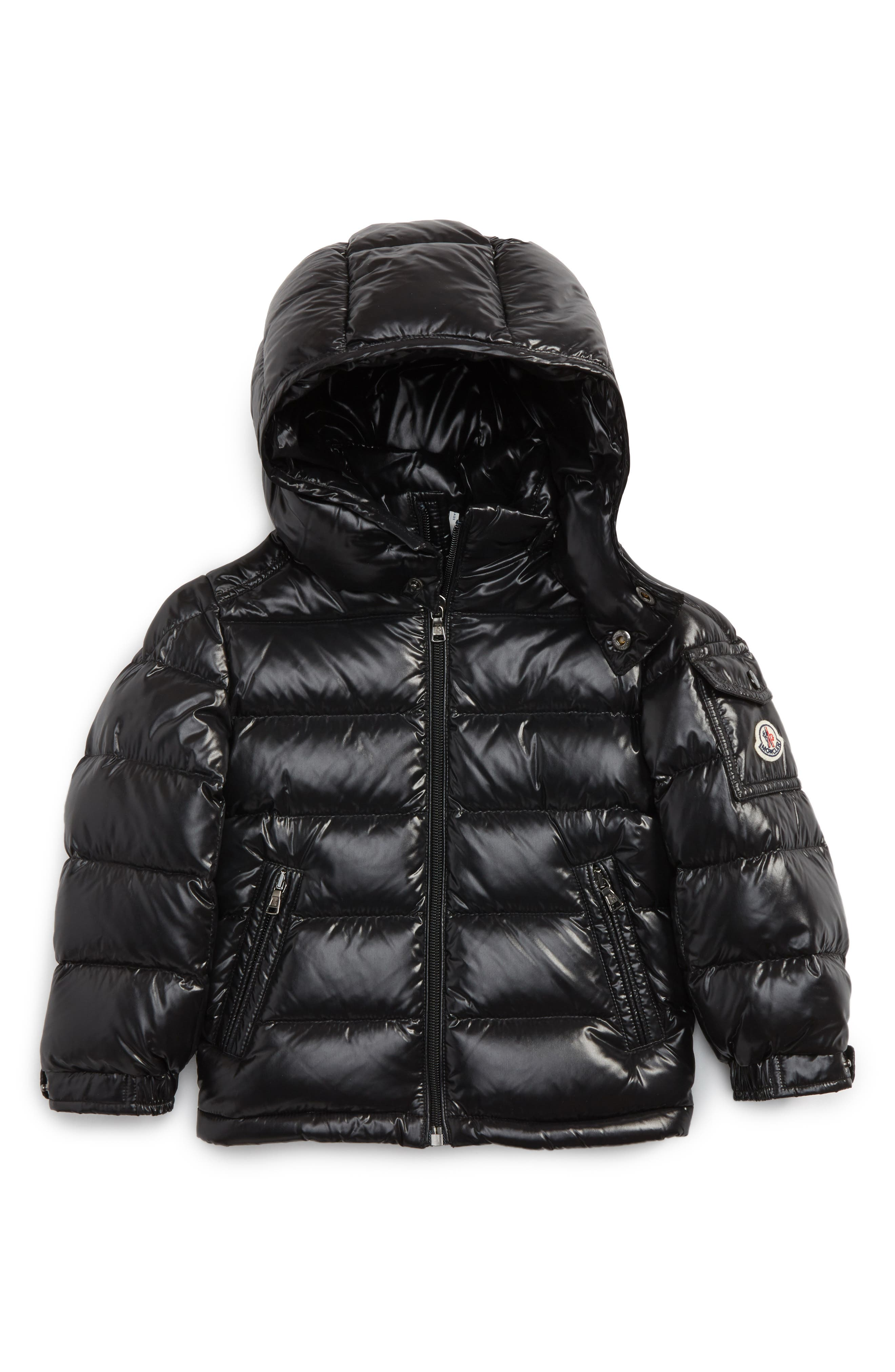Main Image - Moncler Maya Hooded Down Jacket (Toddler Boys)