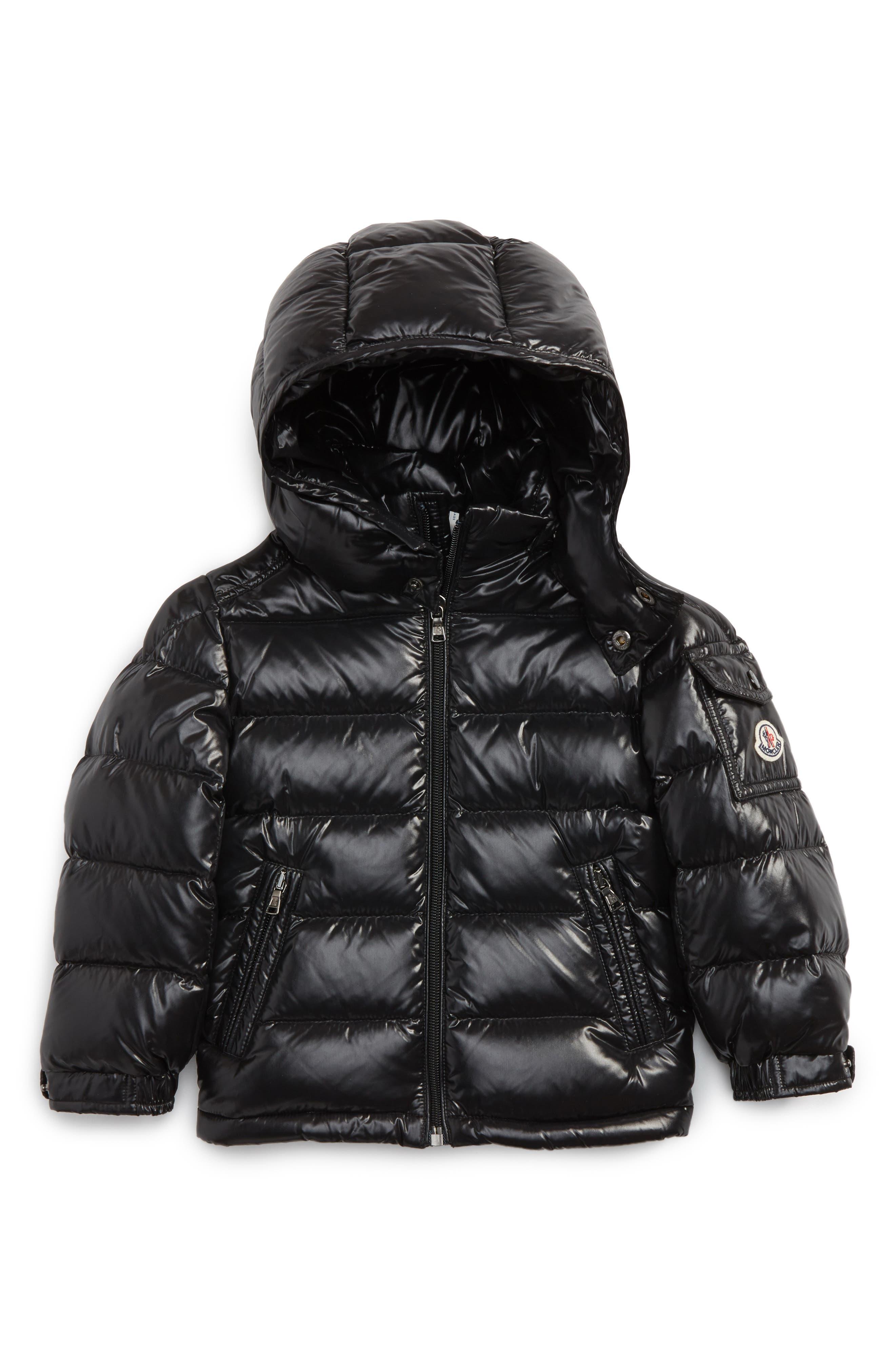 Maya Hooded Down Jacket,                         Main,                         color, Black