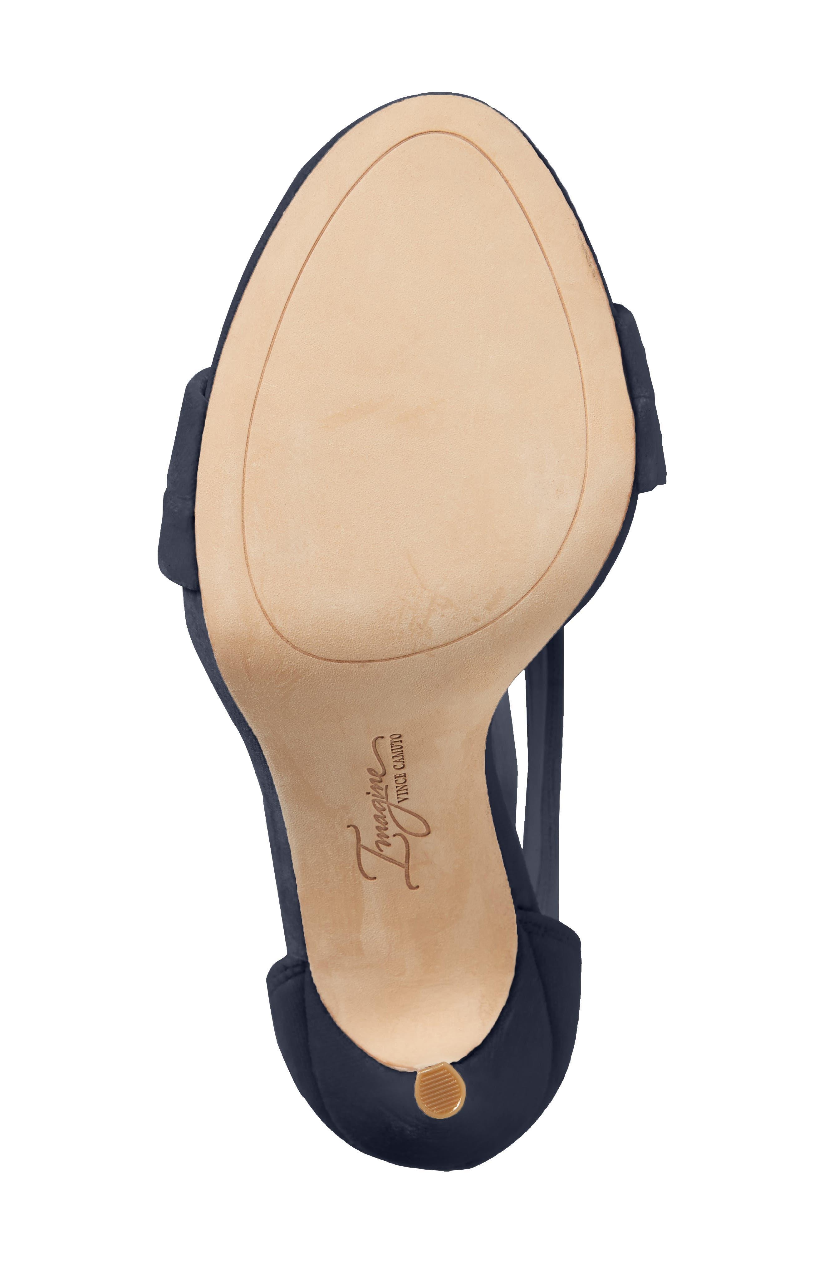 Jerzy Platform Sandal,                             Alternate thumbnail 6, color,                             Navy Synthetic