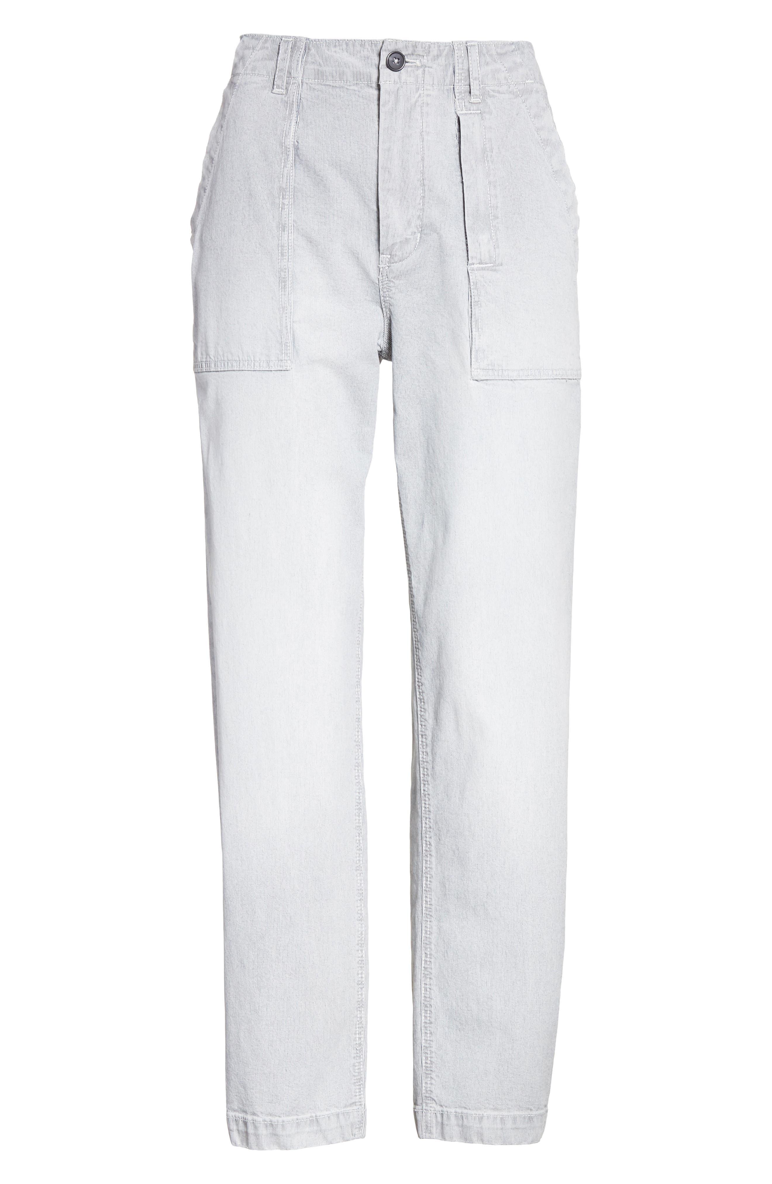 Stripe Ankle Pants,                             Alternate thumbnail 6, color,                             Indigo Combo