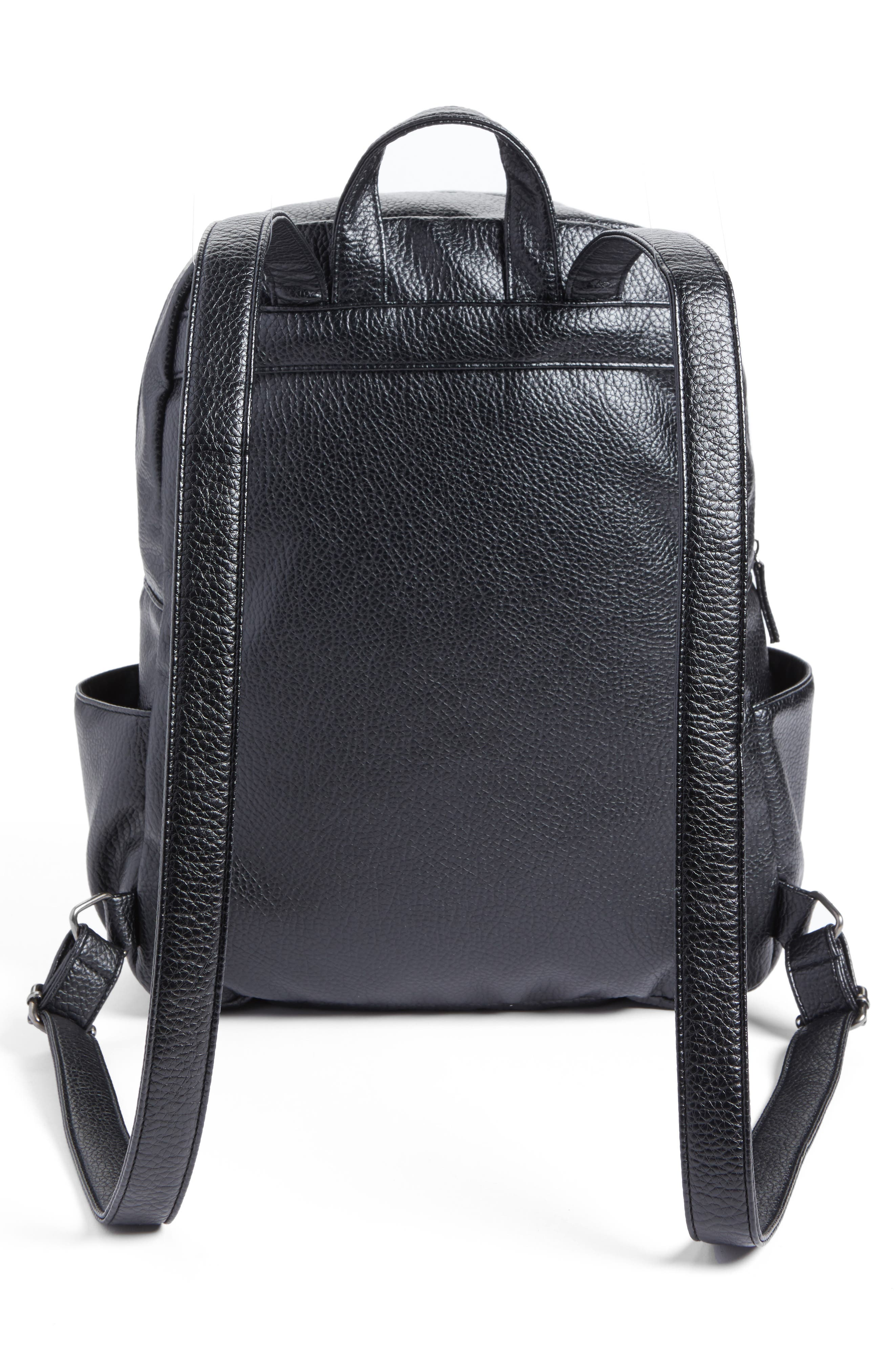 Embroidered Backpack,                             Alternate thumbnail 4, color,                             Black
