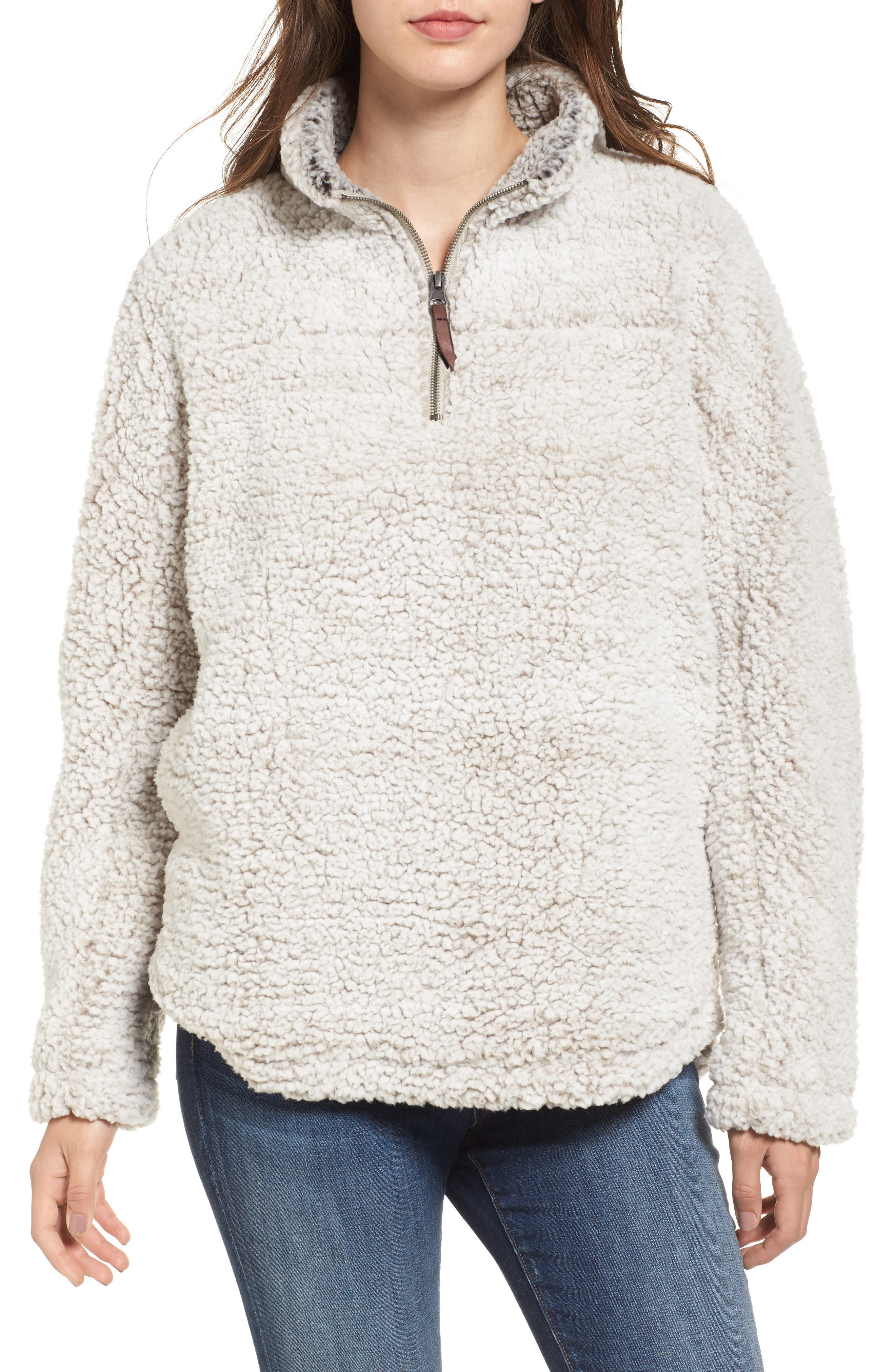Wubby Fleece Pullover,                             Main thumbnail 1, color,                             Ivory