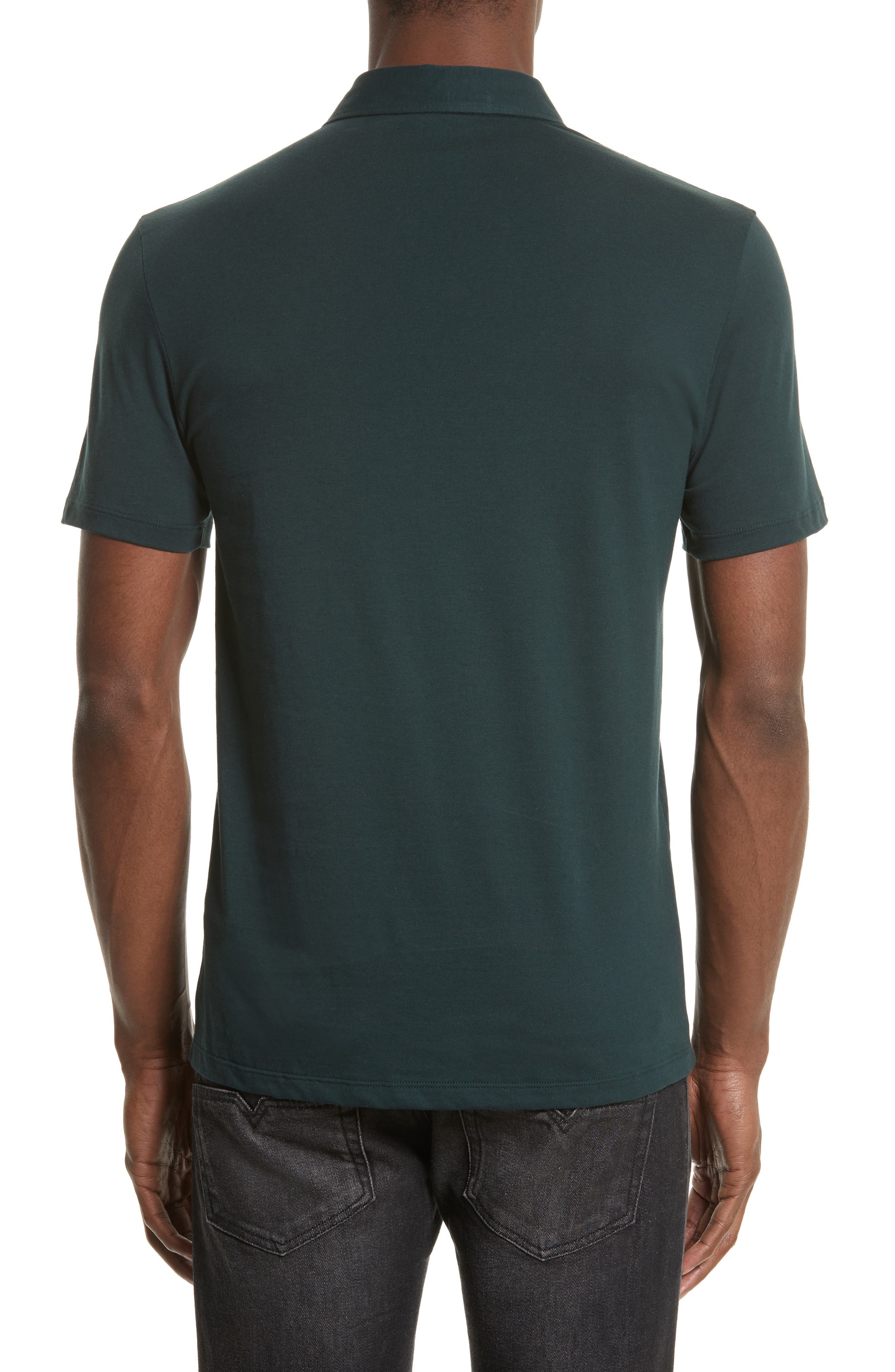 Crest Patch Jersey Polo,                             Alternate thumbnail 2, color,                             Jungle Green