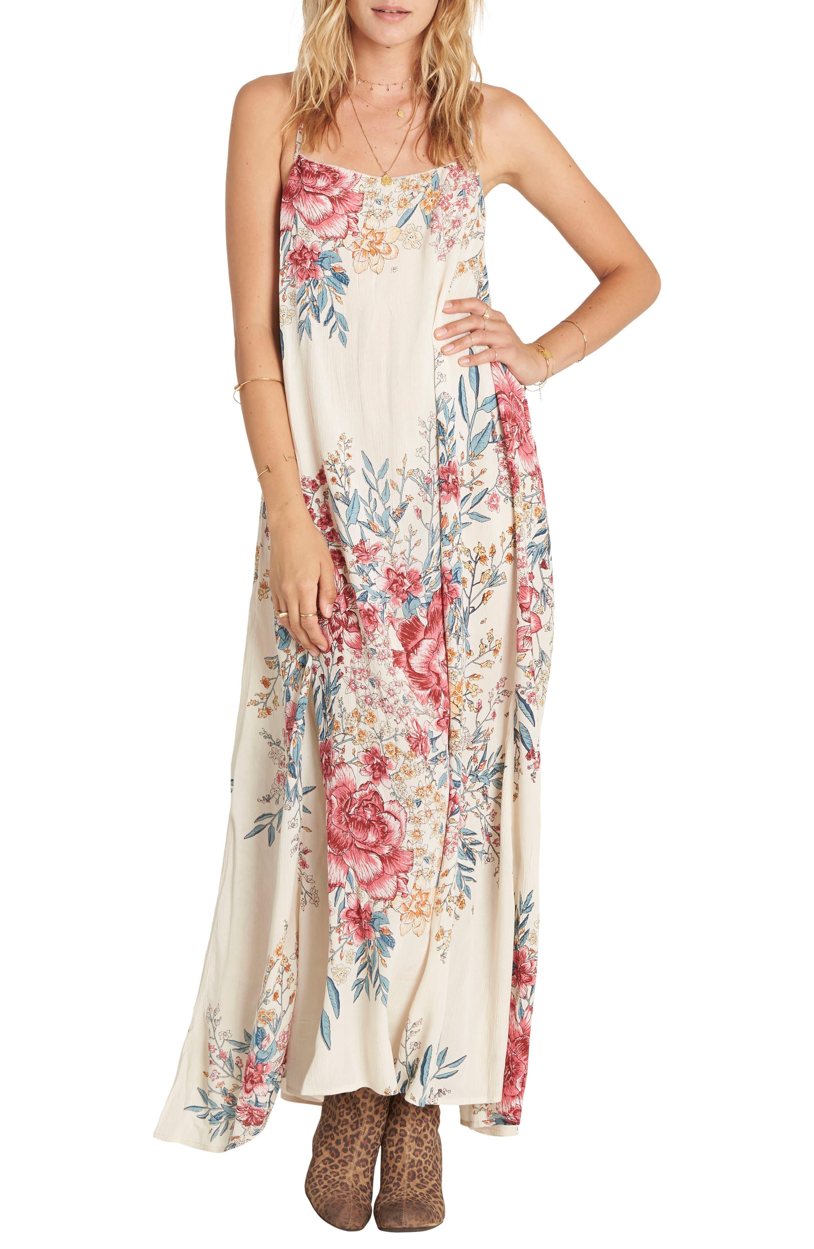 San Sebonne Floral Print Maxi Dress,                             Main thumbnail 1, color,                             Ivory