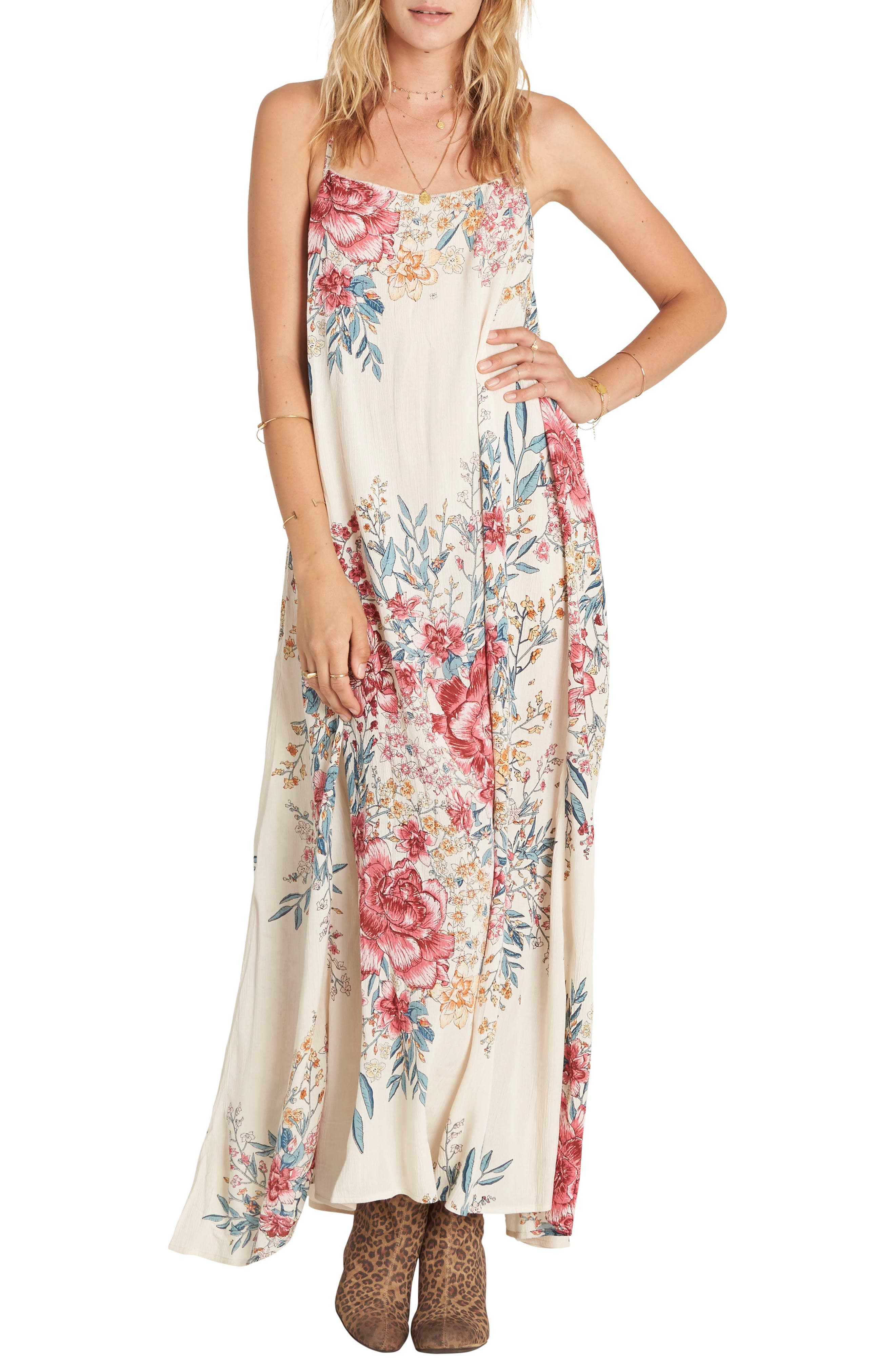 Main Image - Billabong San Sebonne Floral Print Maxi Dress