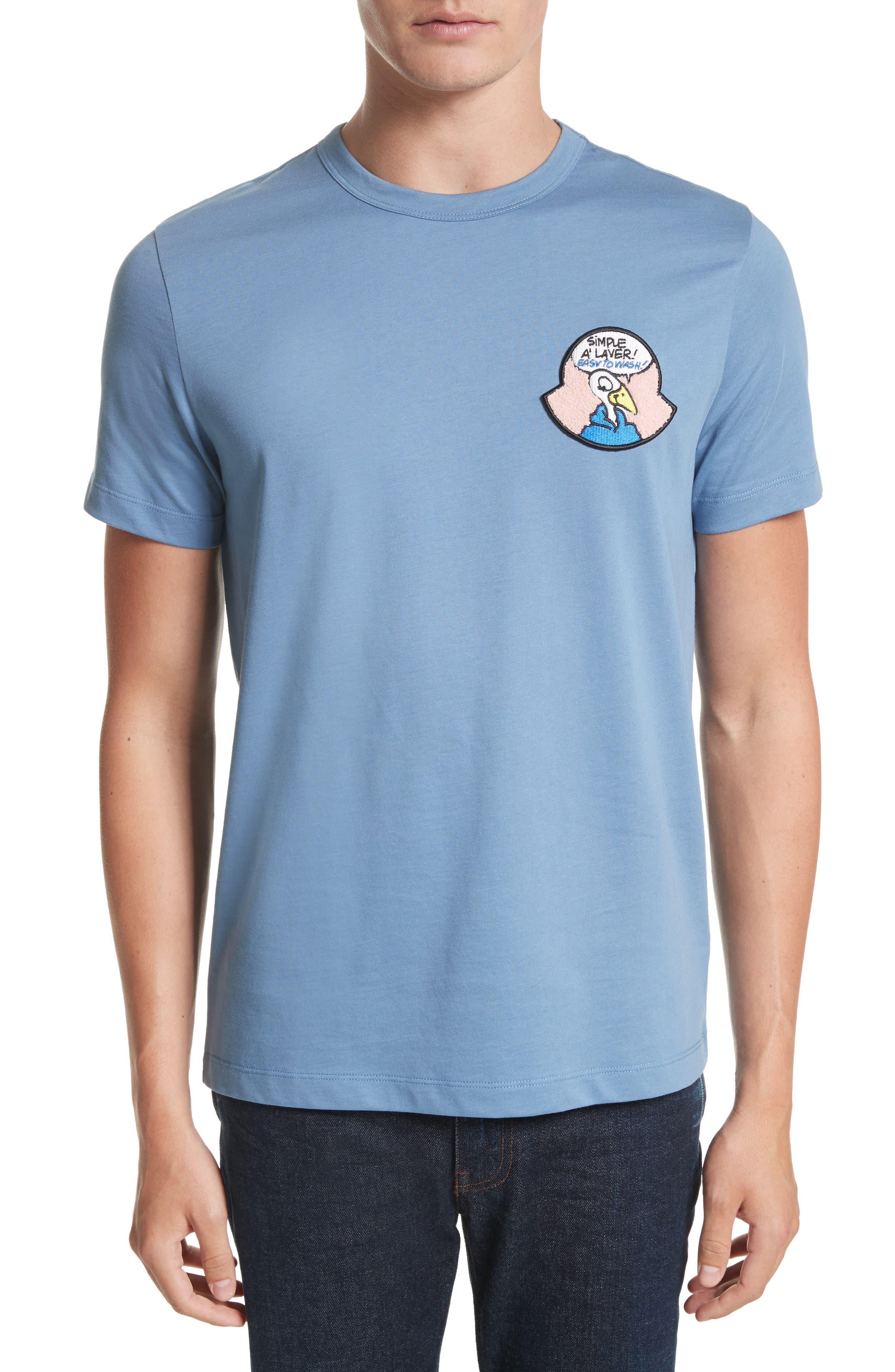 Maglia T-Shirt,                         Main,                         color, Medium Blue