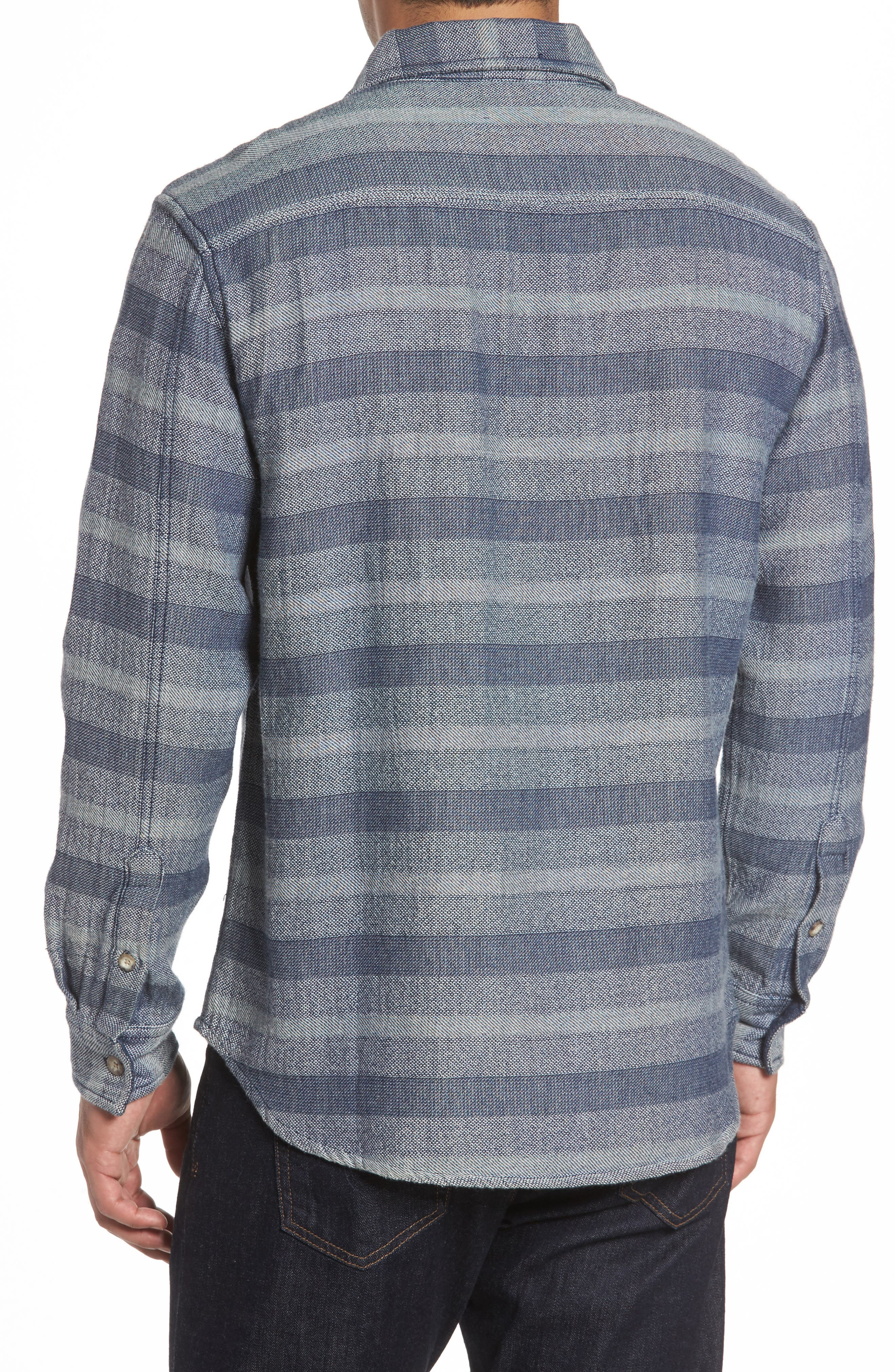 Alternate Image 2  - johnnie-O Teton Classic Fit Stripe Sport Shirt