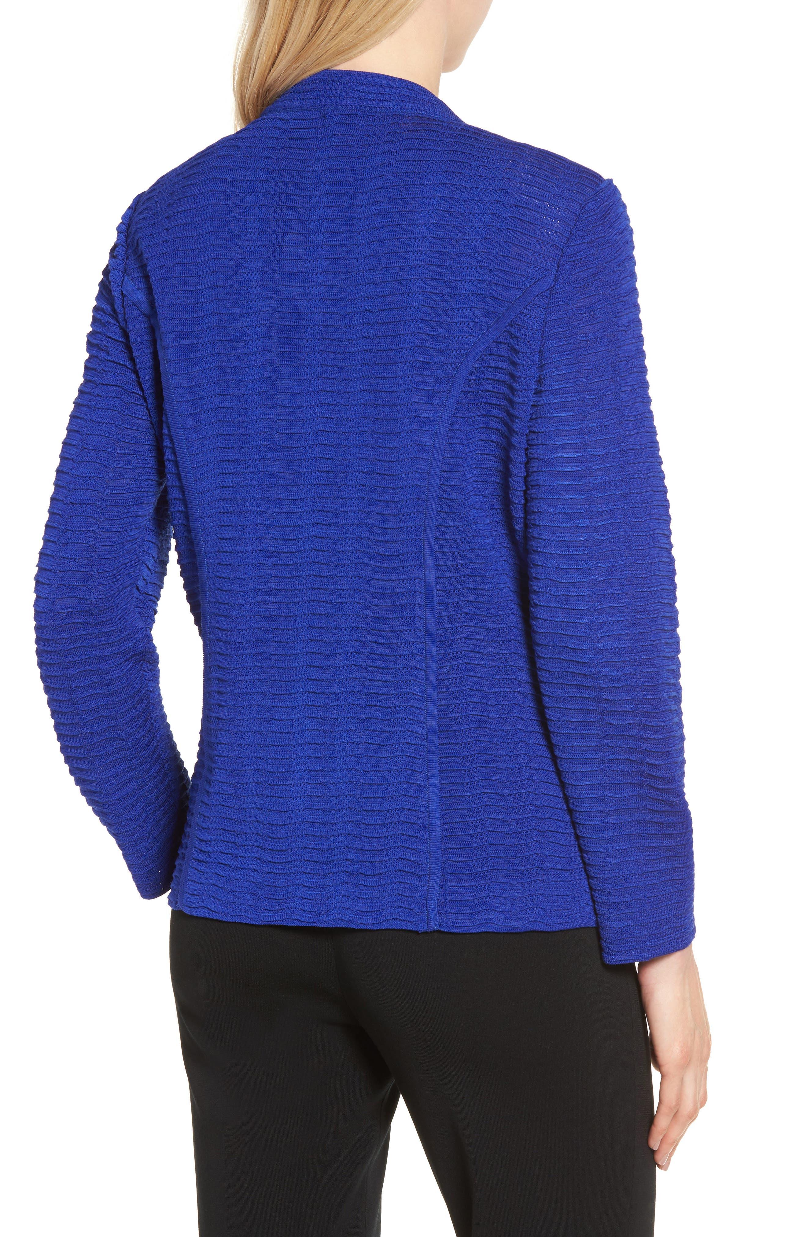 Ripple Knit Jacket,                             Alternate thumbnail 2, color,                             Blue Flame
