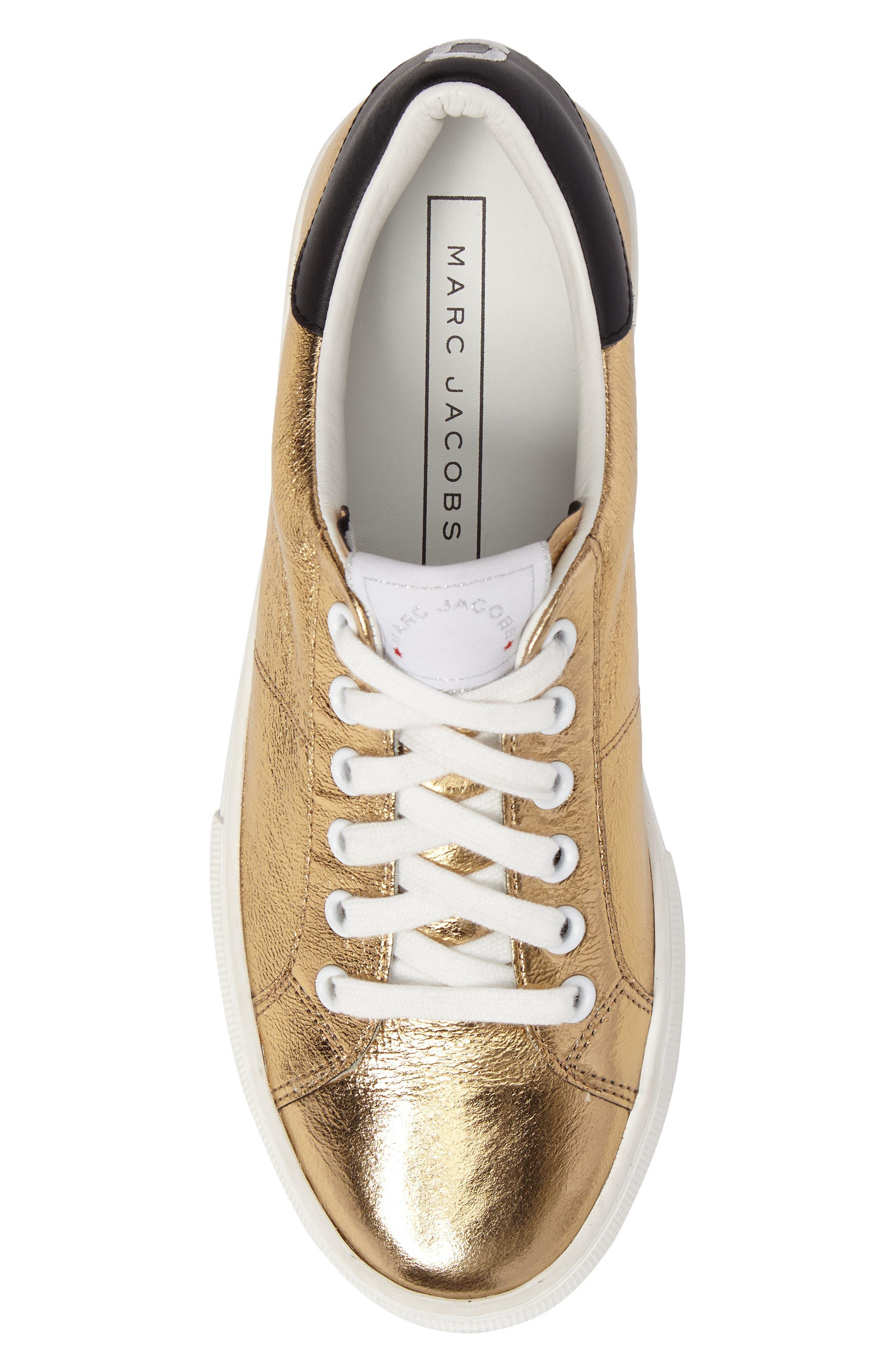 Grand Platform Sneaker,                             Alternate thumbnail 6, color,                             Gold