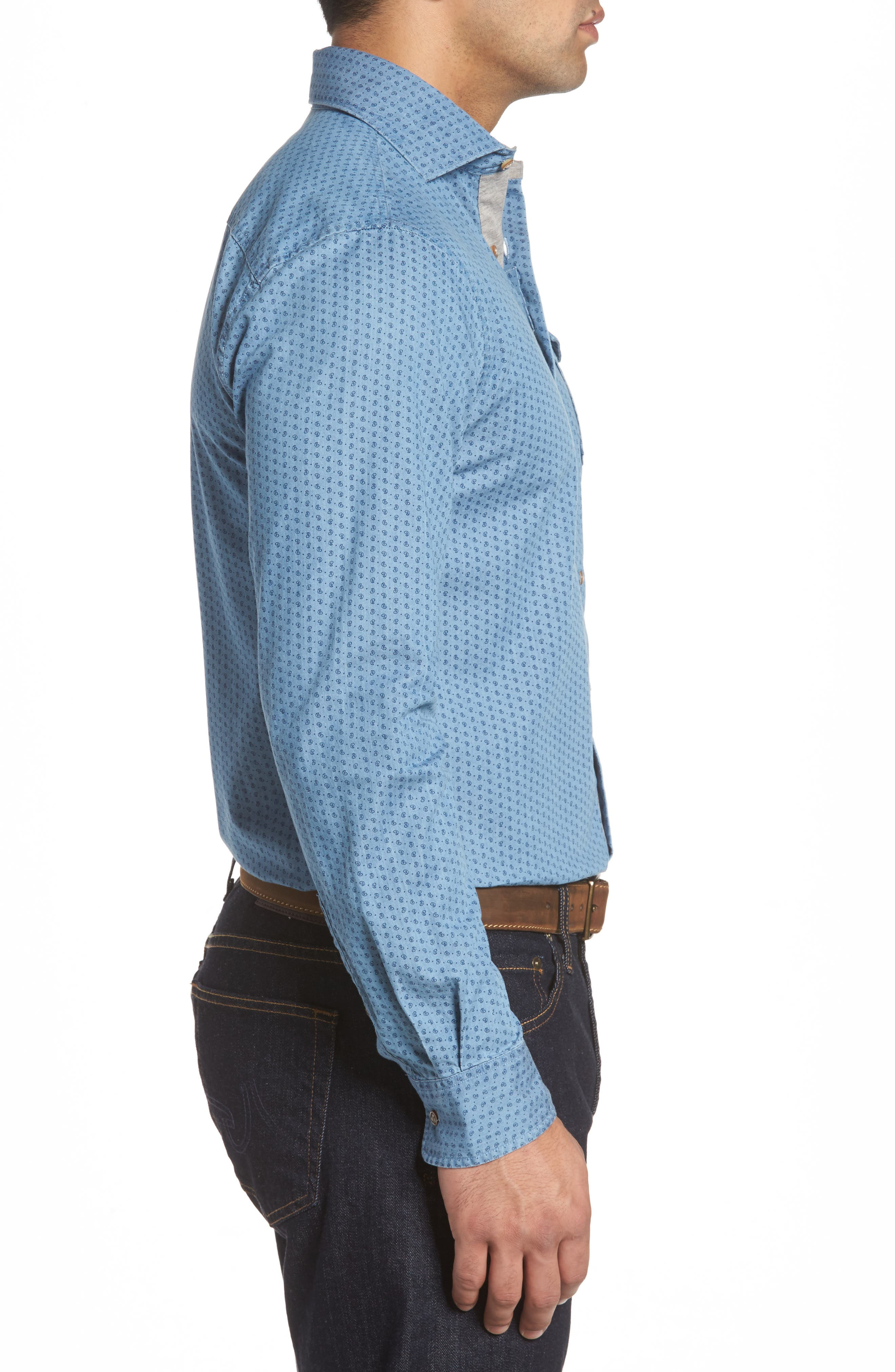 Alternate Image 3  - johnnie-O Capetown Classic Fit Paisley Sport Shirt