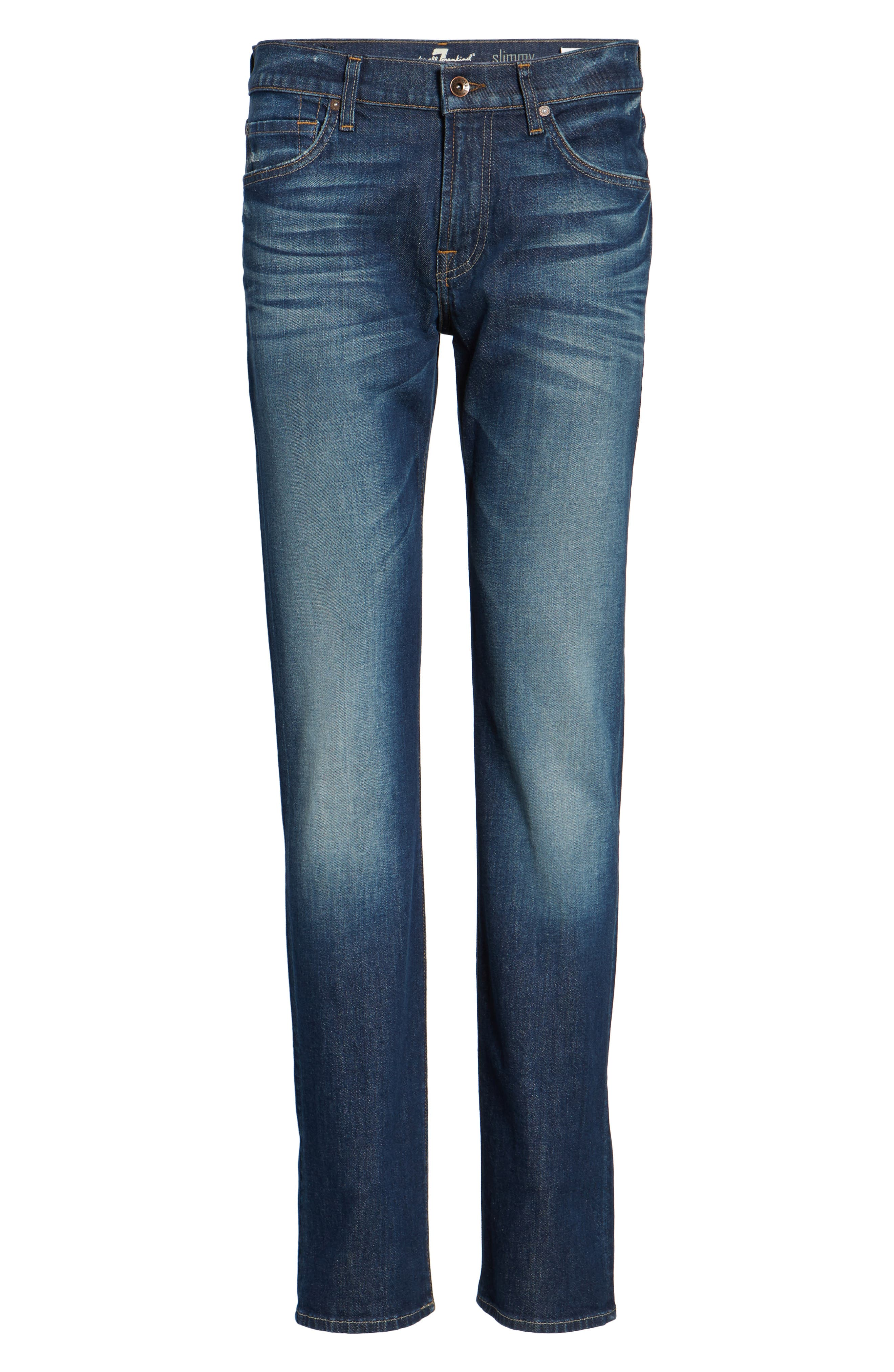 Alternate Image 6  - 7 For All Mankind® Slimmy Slim Fit Jeans (Venture)