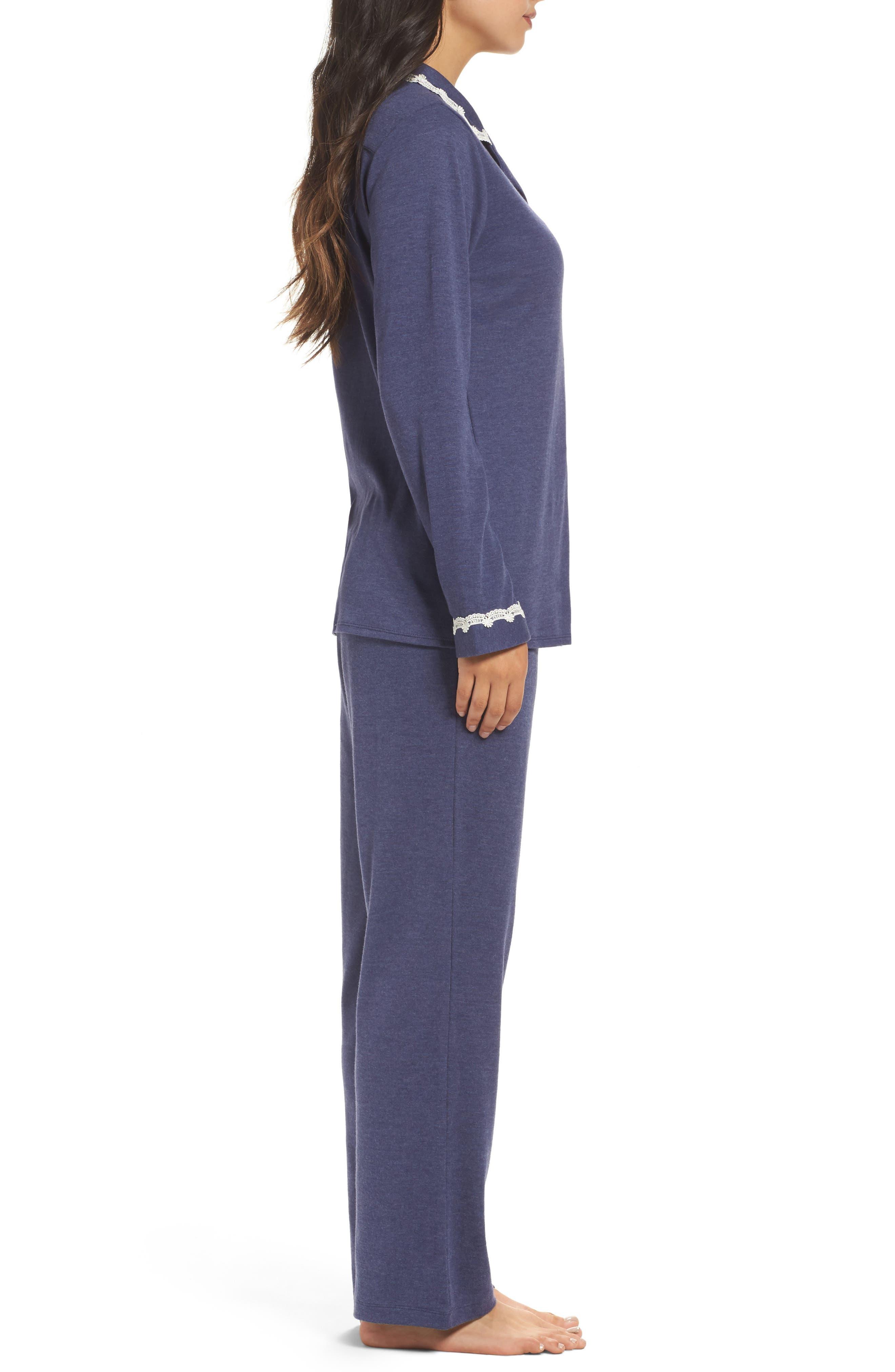 Jersey Pajamas,                             Alternate thumbnail 3, color,                             Blue