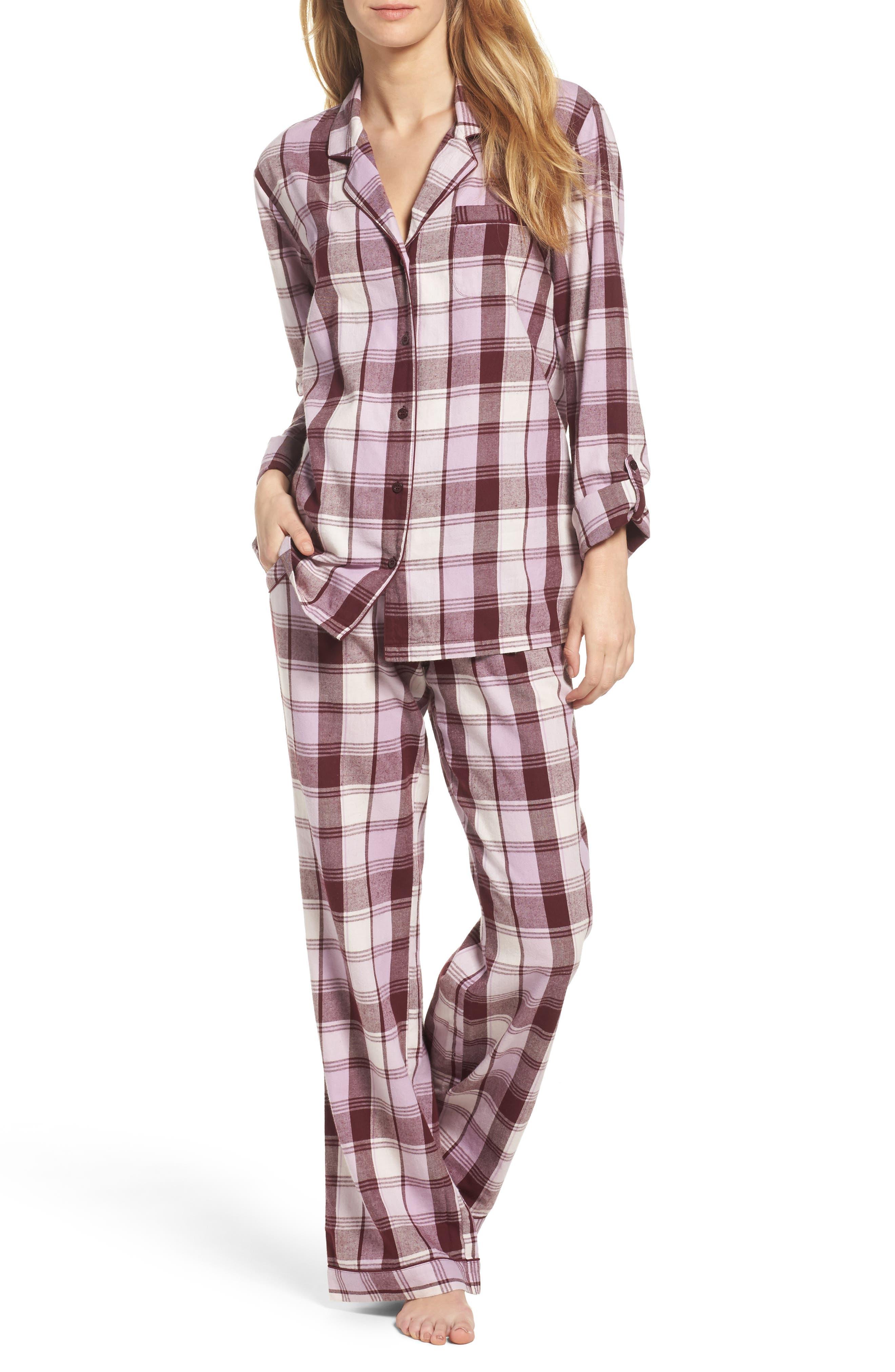 Main Image - Nordstrom Lingerie Cotton Twill Pajamas
