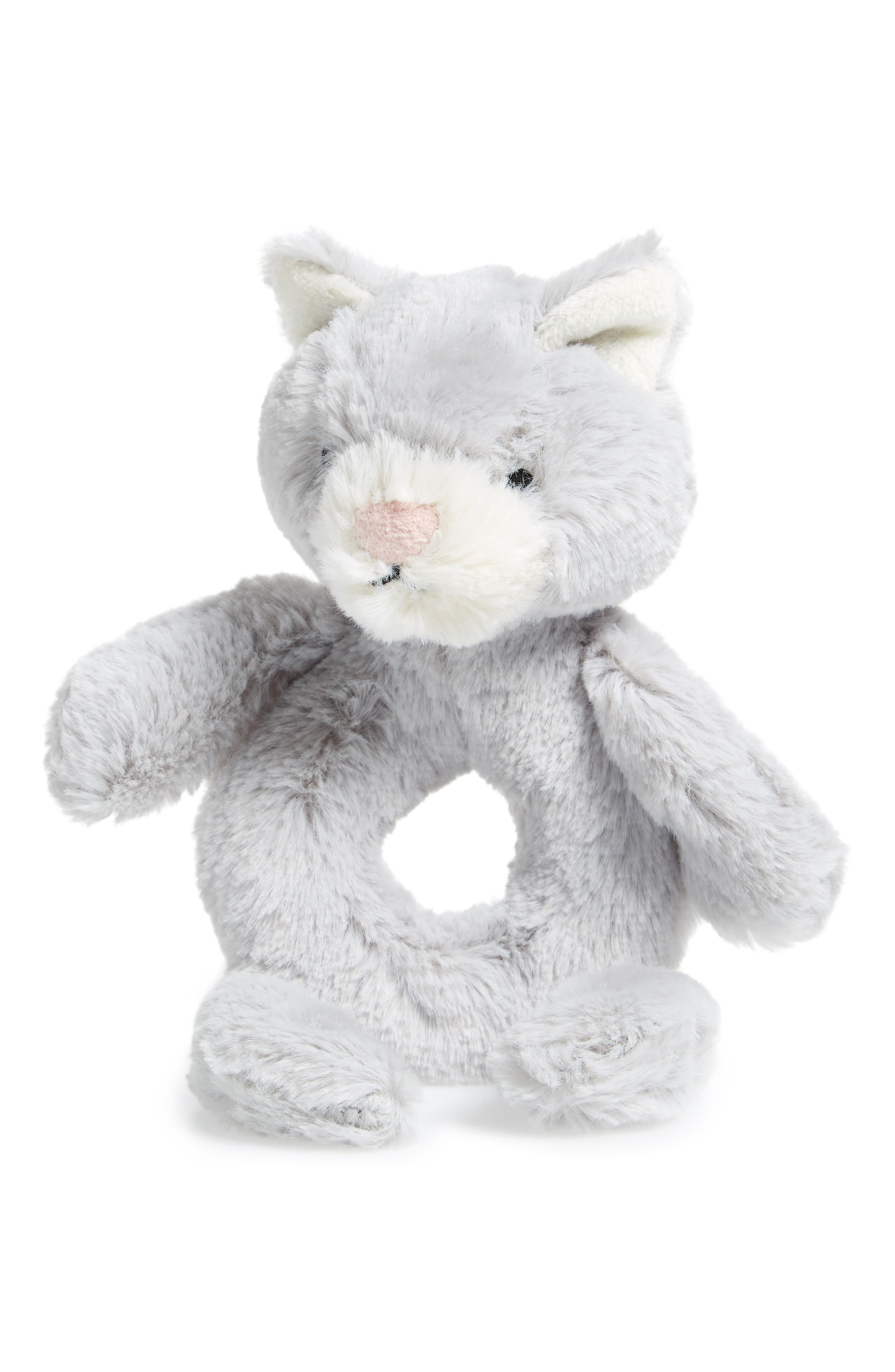 'Kitty' Grabber Rattle,                         Main,                         color, Grey