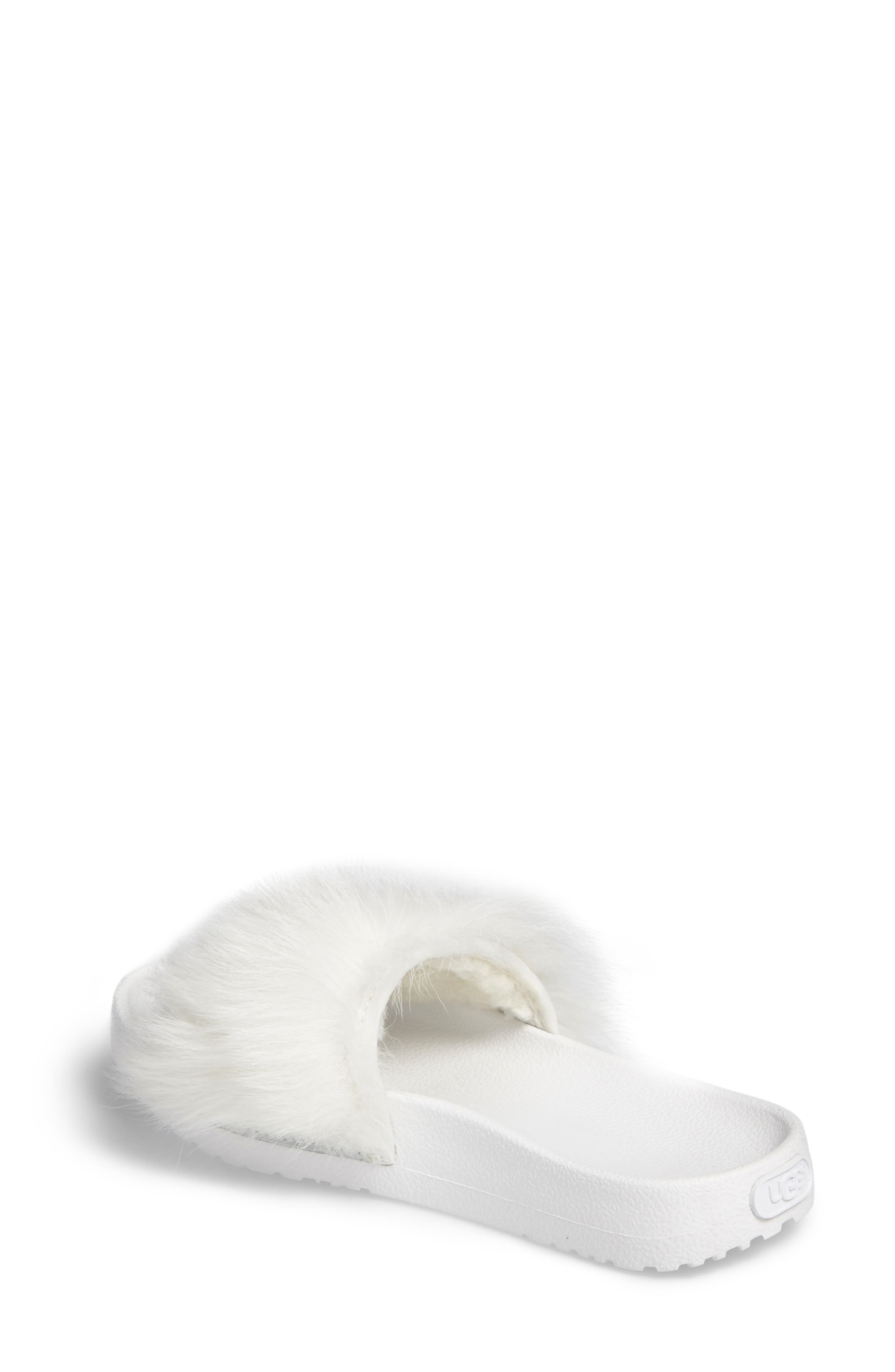 Alternate Image 2  - UGG® Royale Genuine Shearling Slide Sandal (Women)