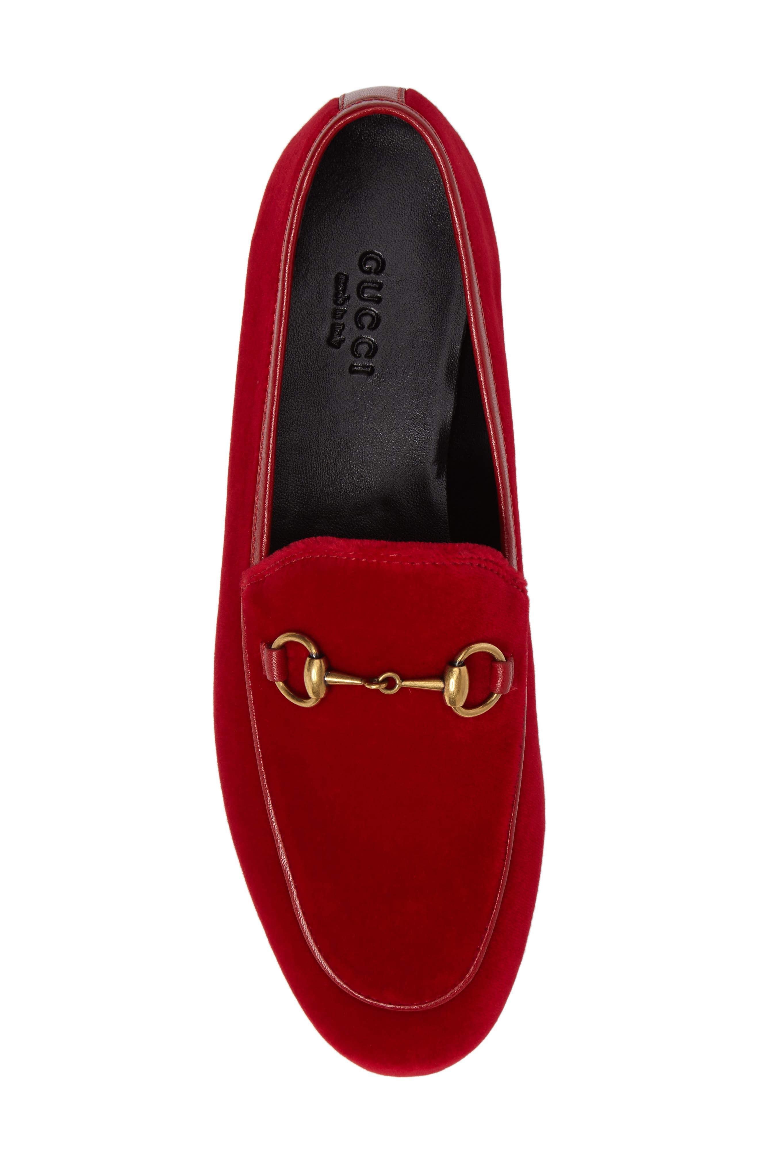 Alternate Image 5  - Gucci Brixton Velvet Loafer (Women)