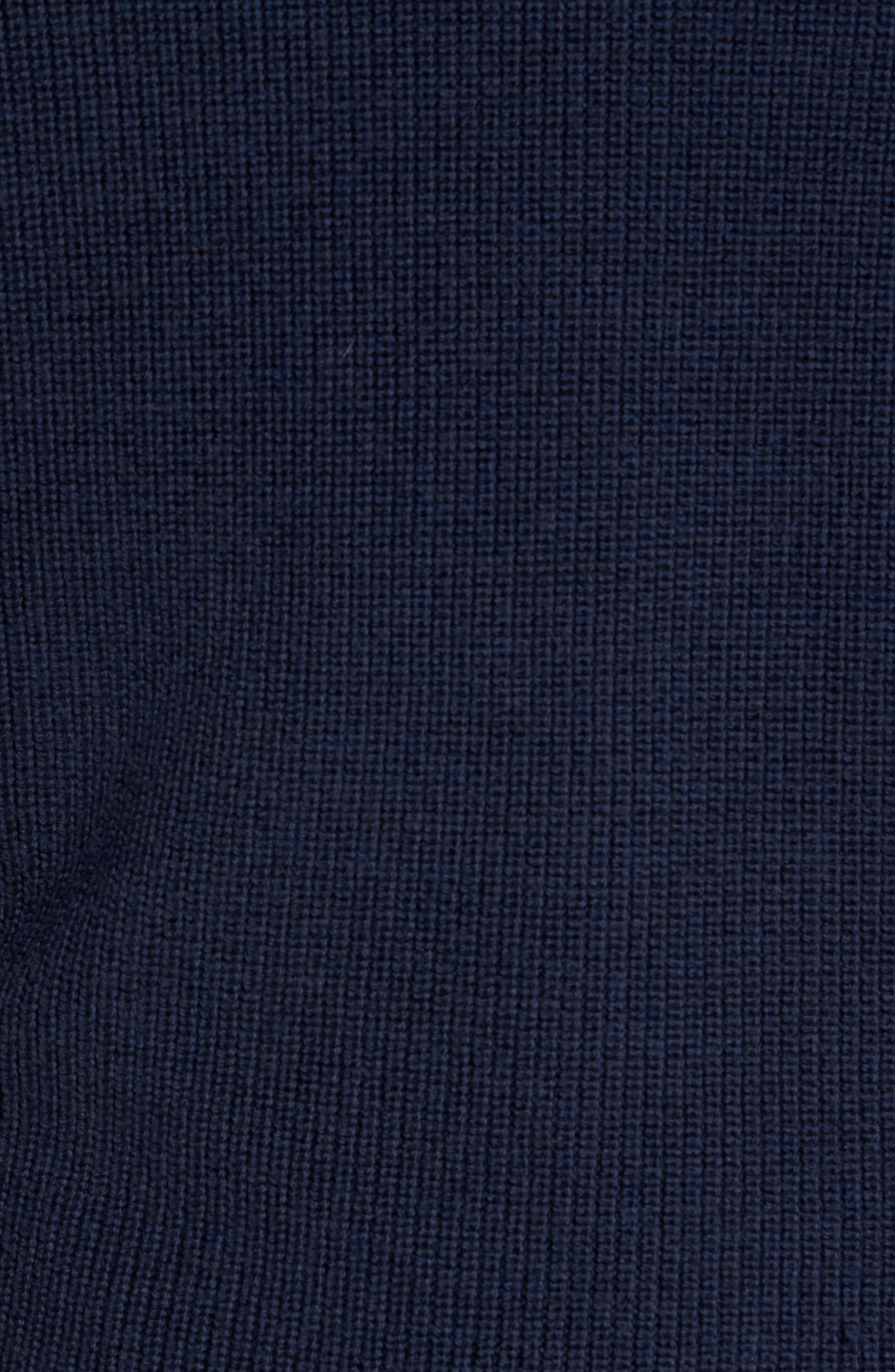 Charlesworth Suede Patch Merino Wool Sweater,                             Alternate thumbnail 5, color,                             Marine