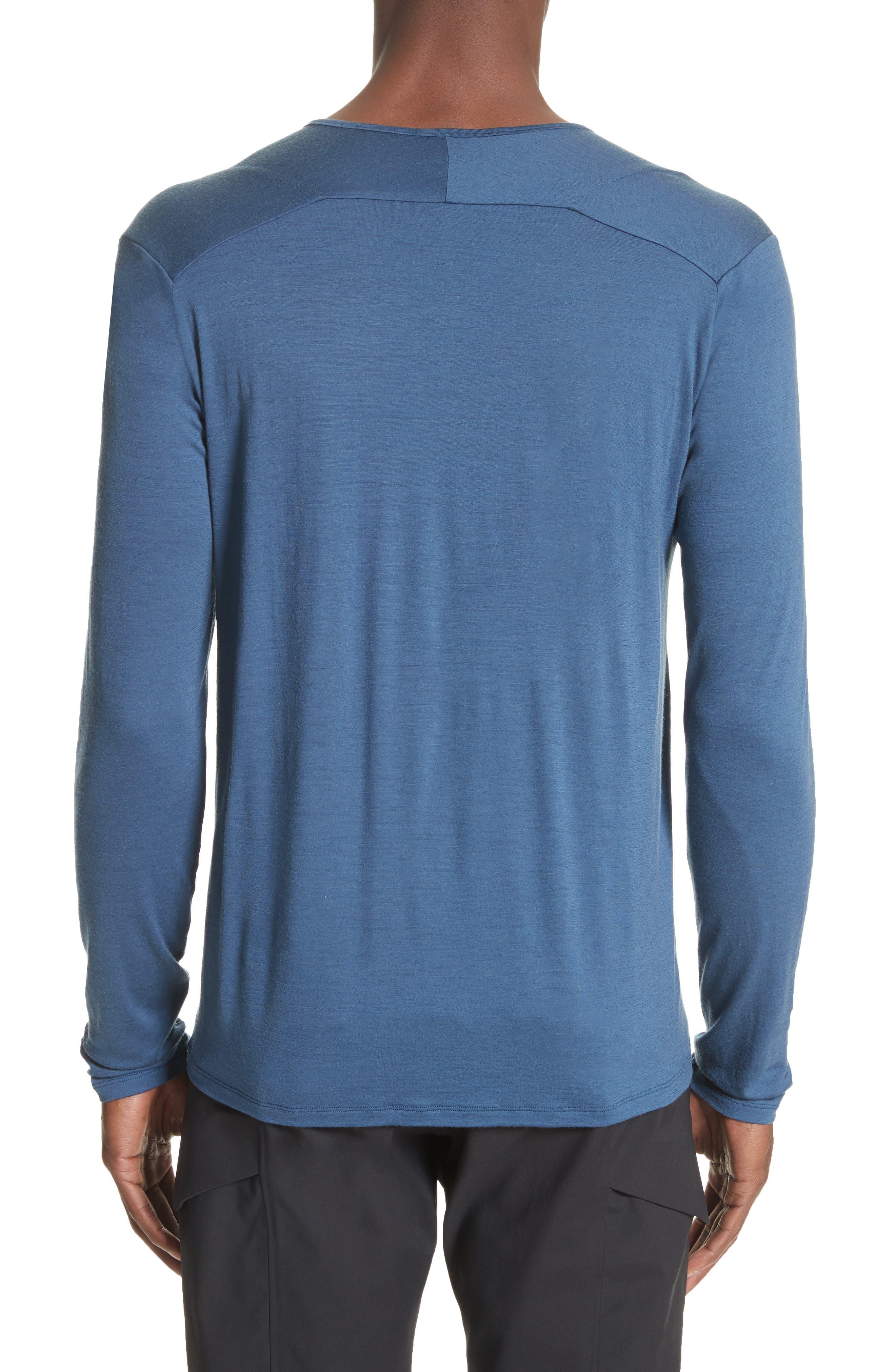Frame Merino Wool T-Shirt,                             Alternate thumbnail 2, color,                             Navy