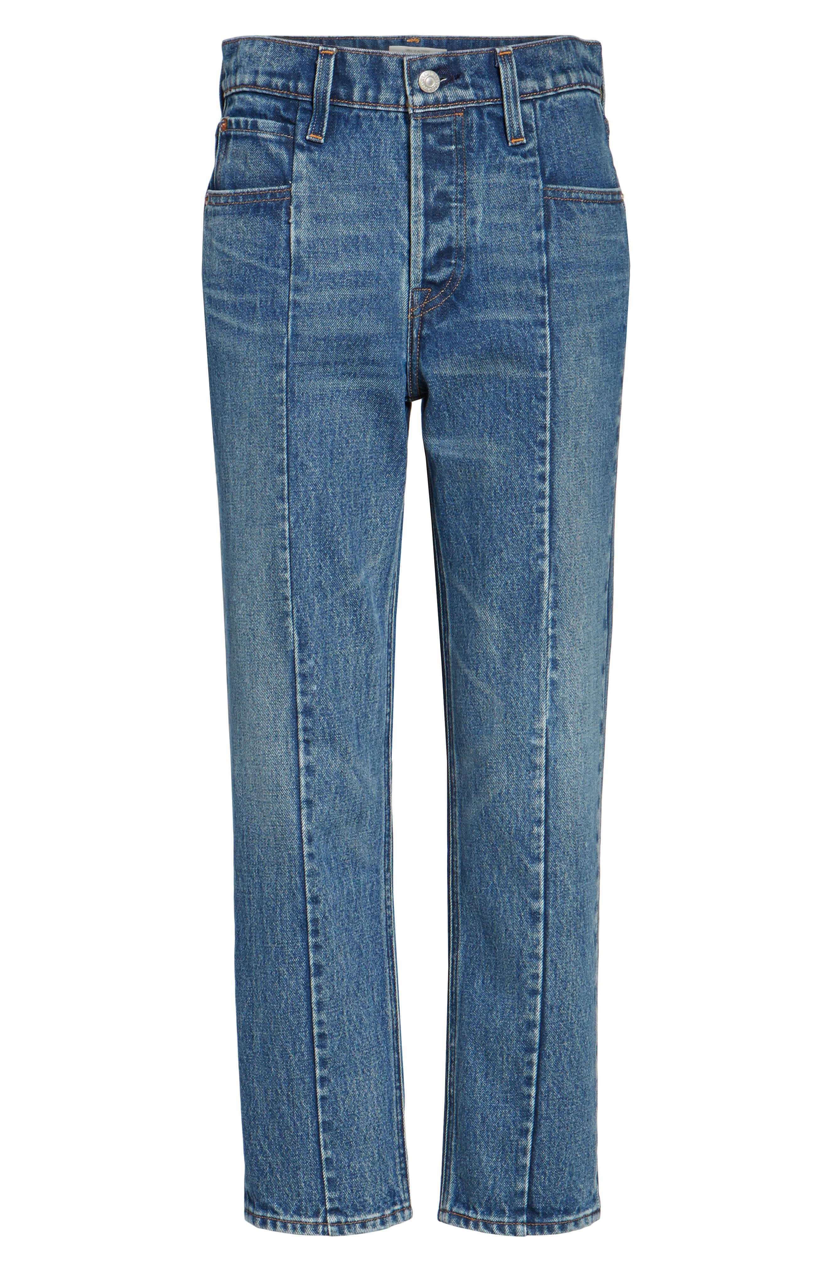Wedgie Altered Straight Leg Crop Jeans,                             Alternate thumbnail 6, color,                             No Limits