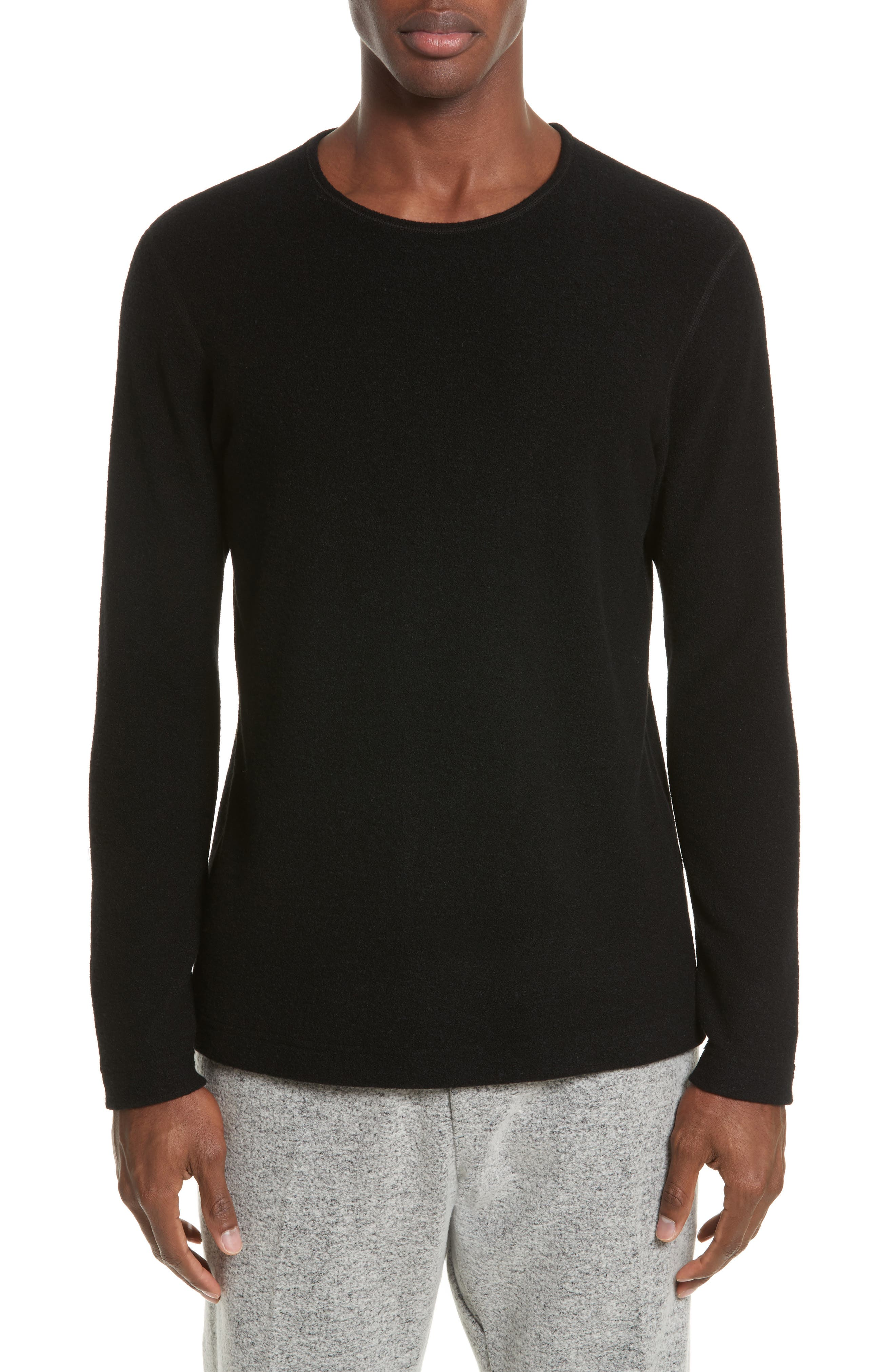 wings + horns Felted Wool Blend Sweater