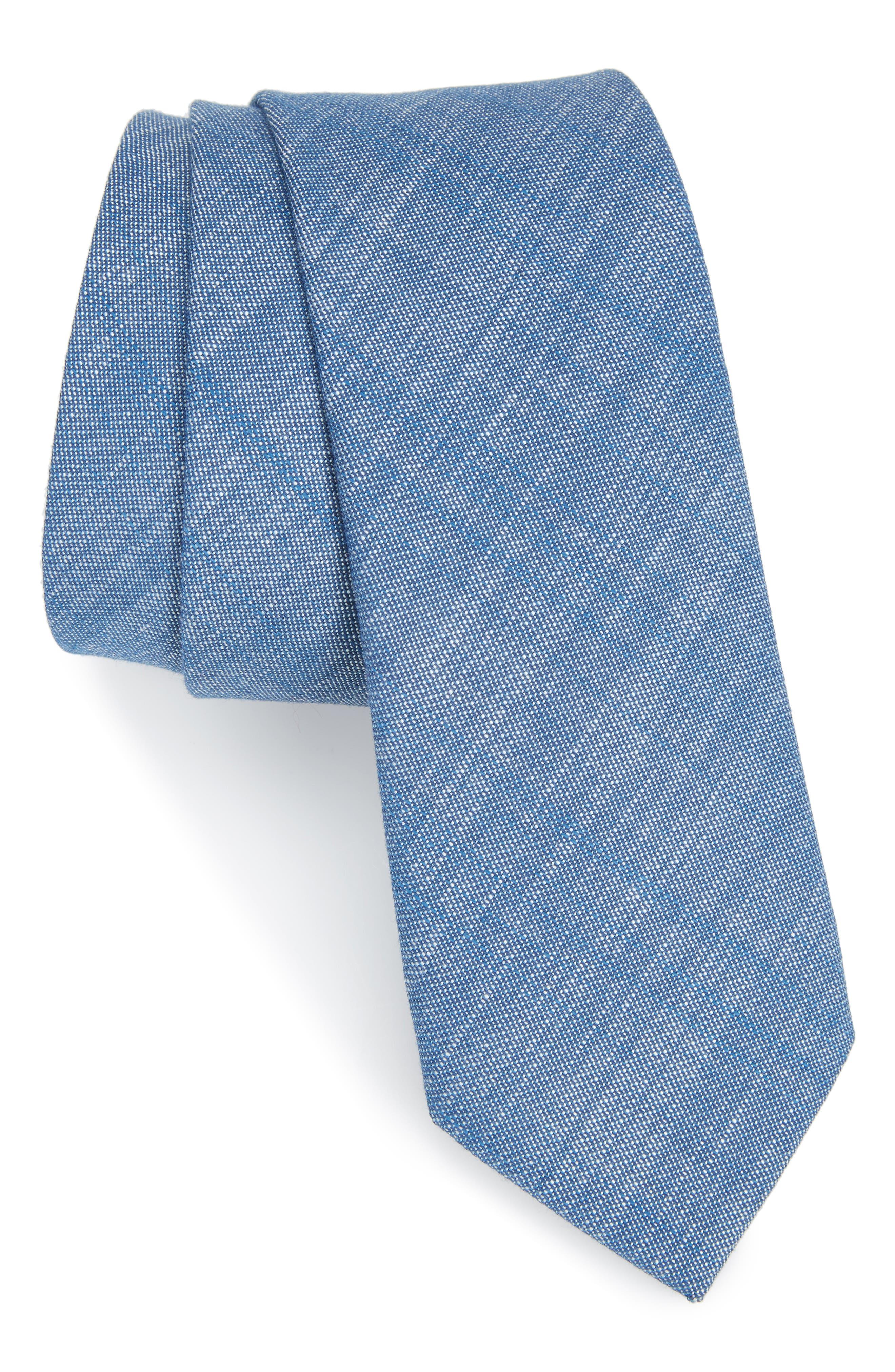 Alternate Image 1 Selected - Nordstrom Men's Shop Tyler Solid Cotton Skinny Tie