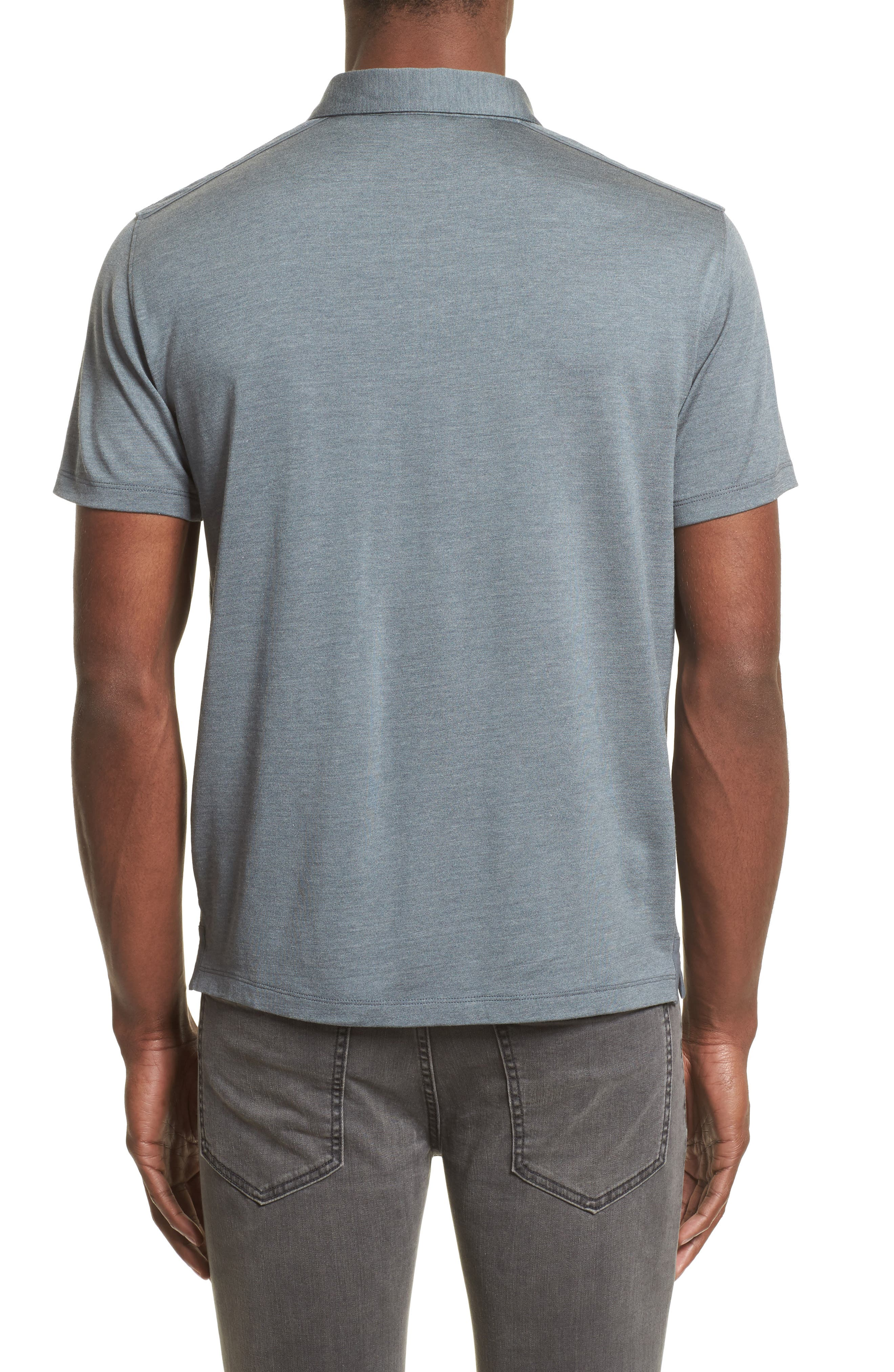 Alternate Image 2  - John Varvatos Collection Hampton Silk Blend Polo