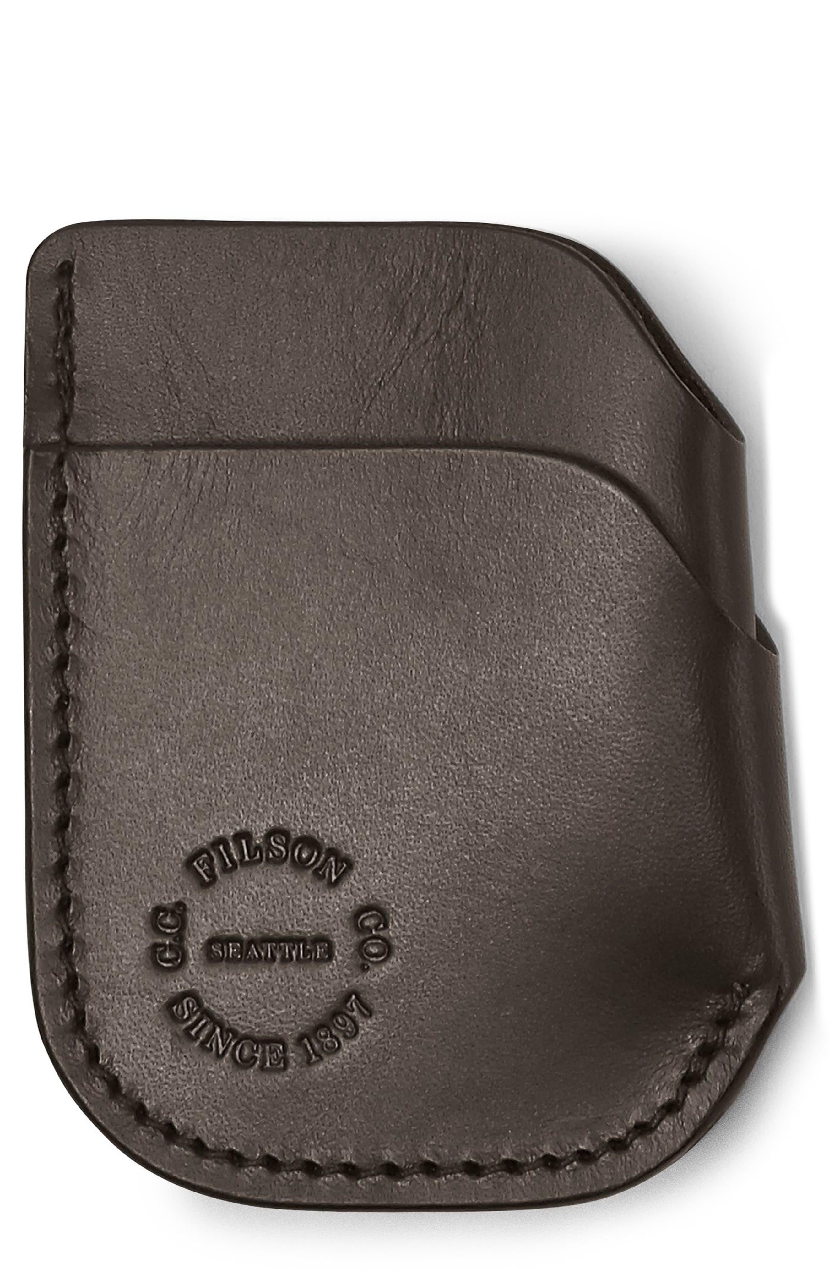 FILSON Leather Cash & Card Case