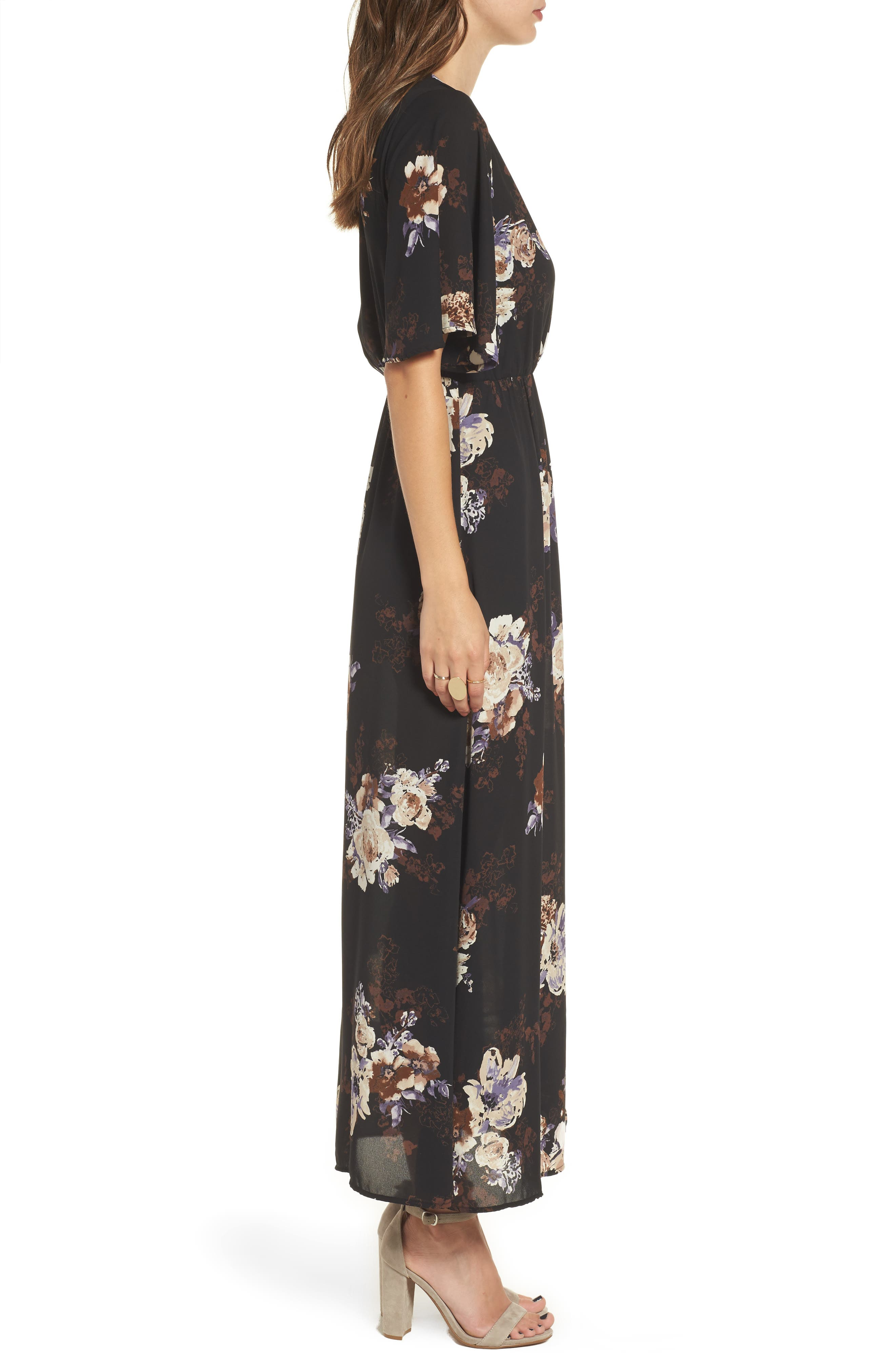 Alternate Image 3  - Everly Floral Print Woven Maxi Dress