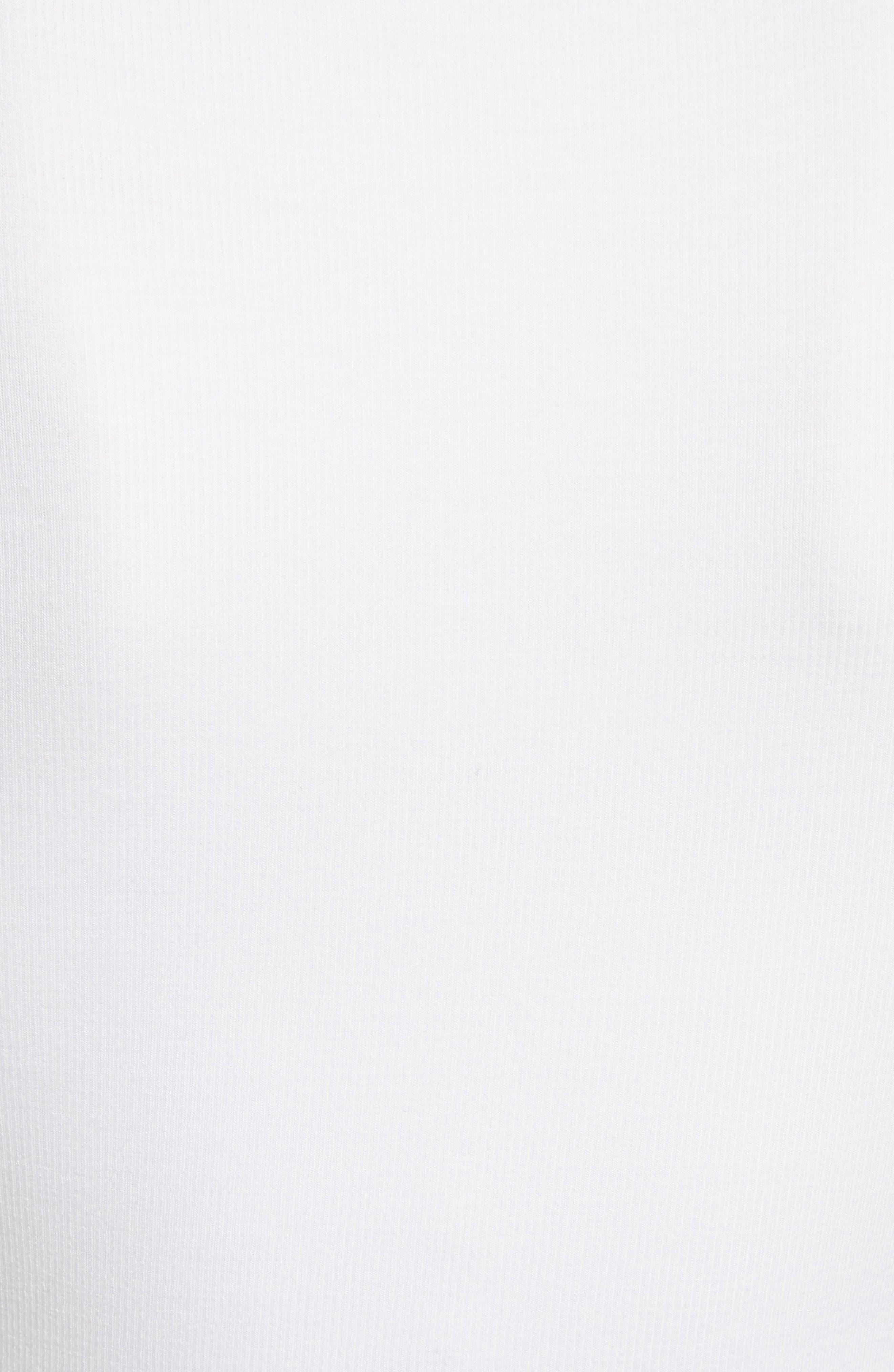 Ribbed Bodysuit,                             Alternate thumbnail 5, color,                             White