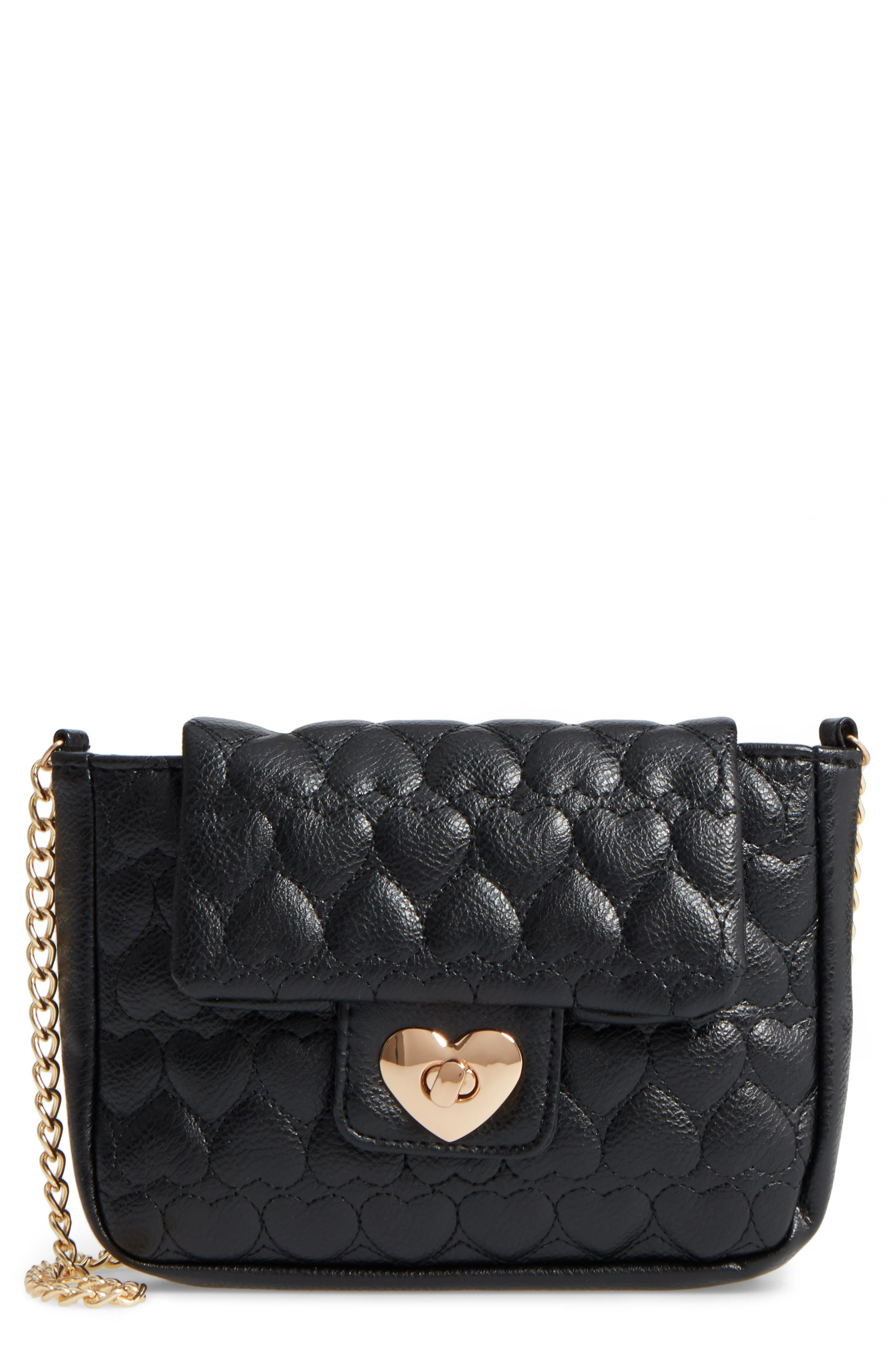 CAPELLI OF NEW YORK Quilted Heart Shoulder Bag