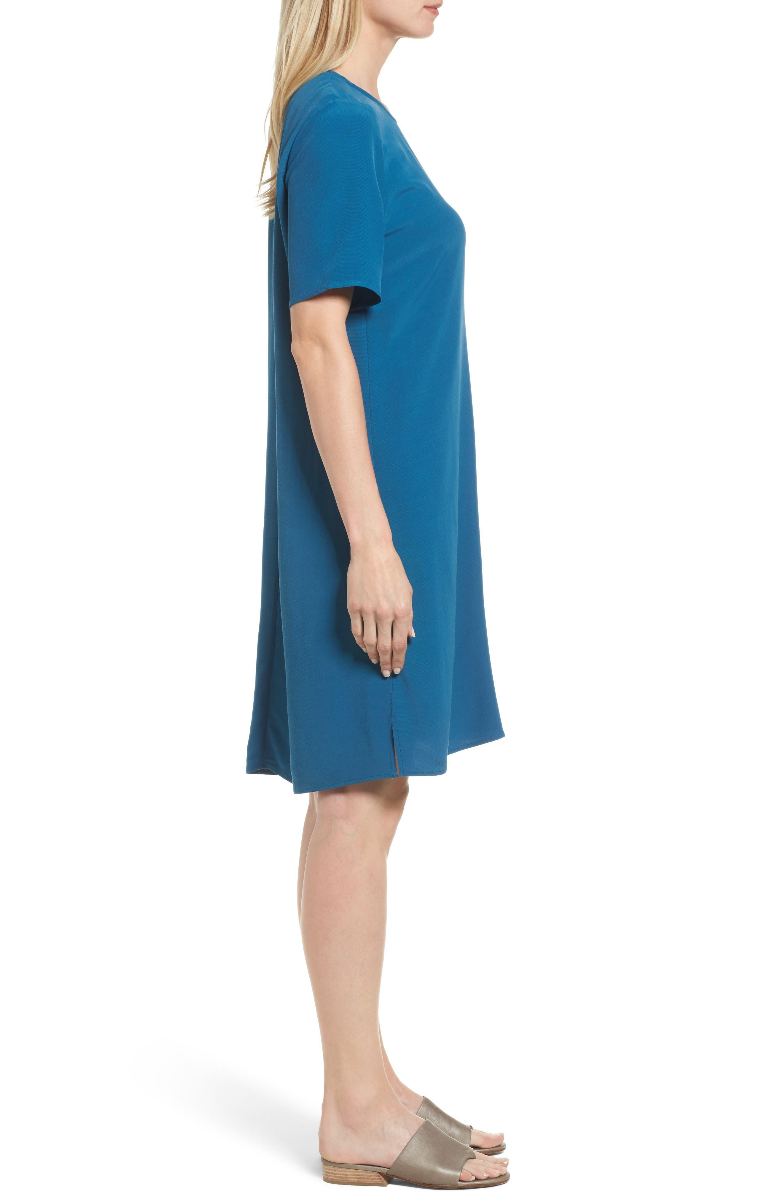 Alternate Image 4  - Eileen Fisher Tencel® Blend Jersey Shift Dress (Regular & Petite)