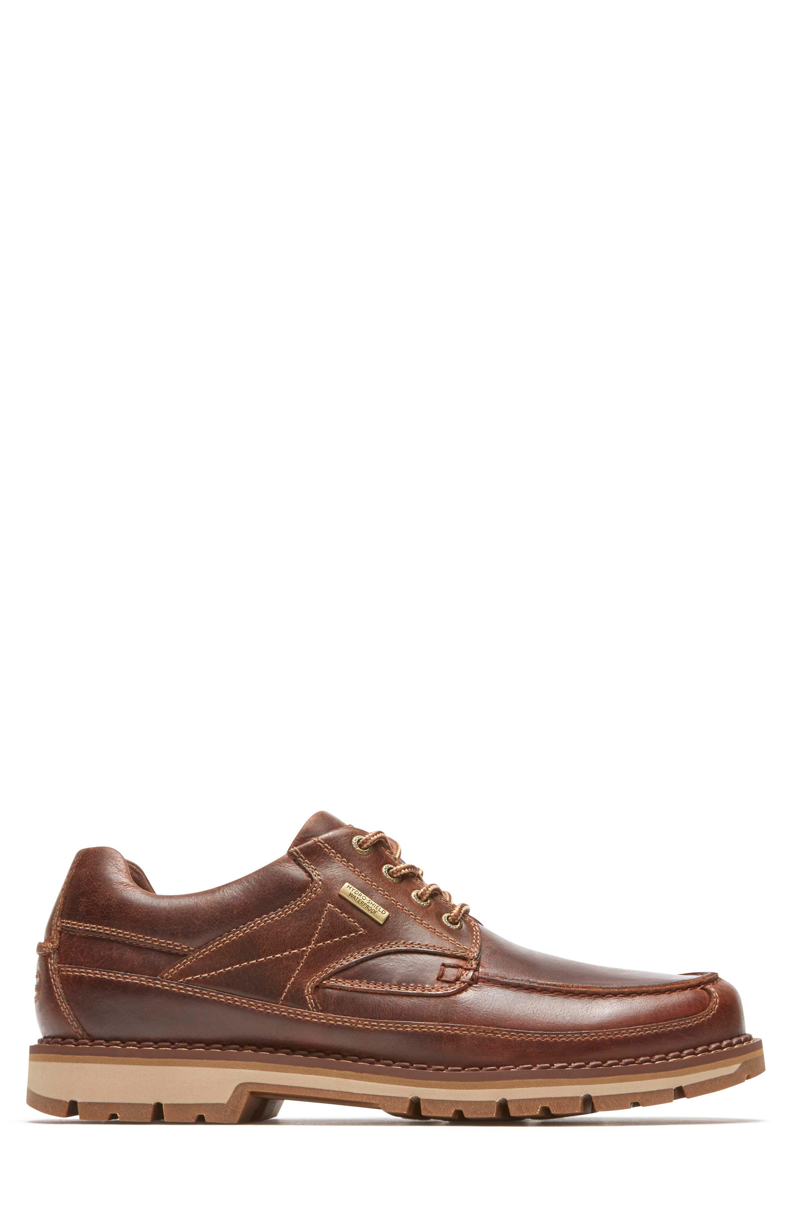 Centry Moc Toe Derby,                             Alternate thumbnail 3, color,                             Brown Leather