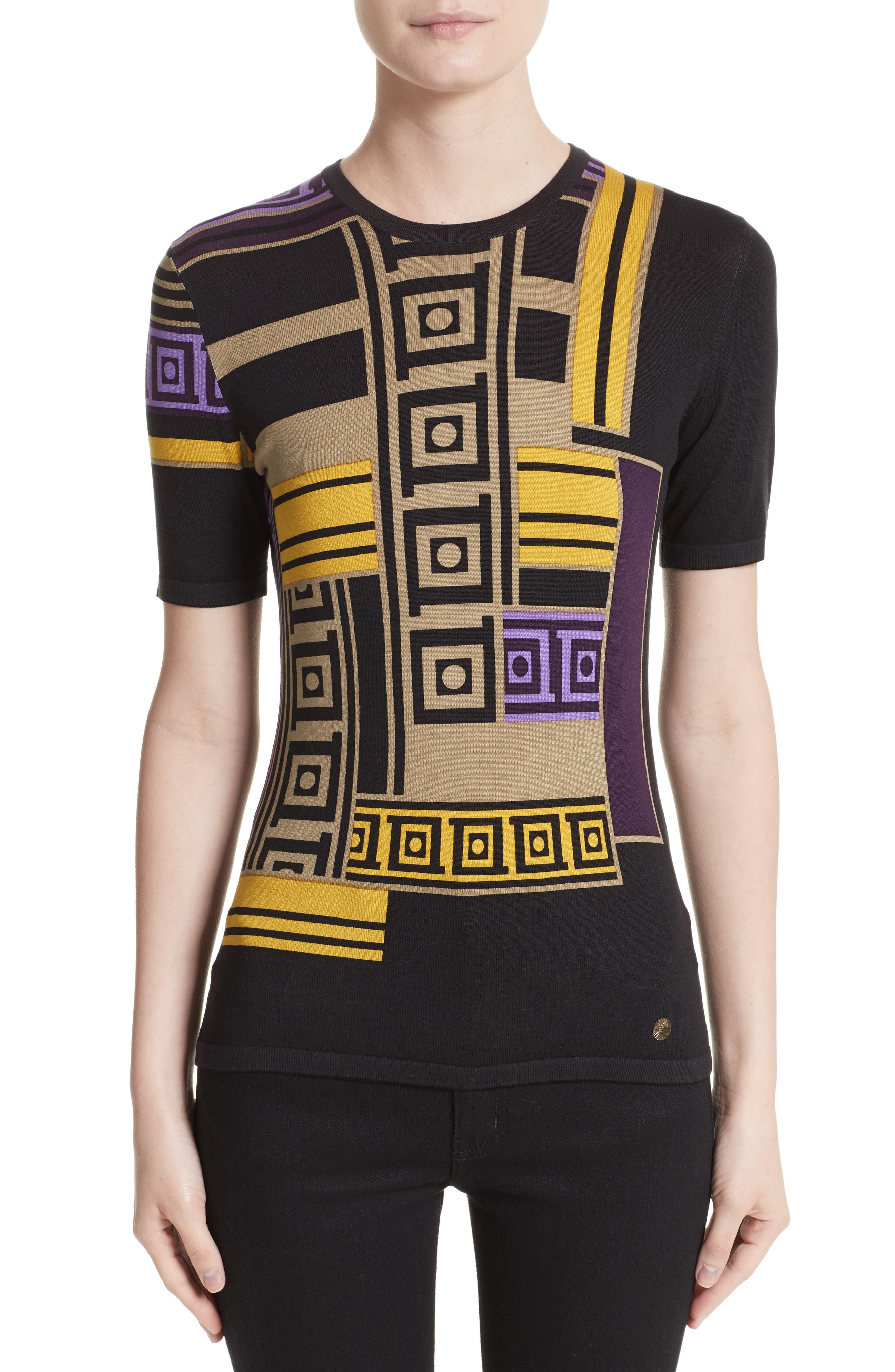 Alternate Image 1 Selected - Versace Collection Tetris Knit Top
