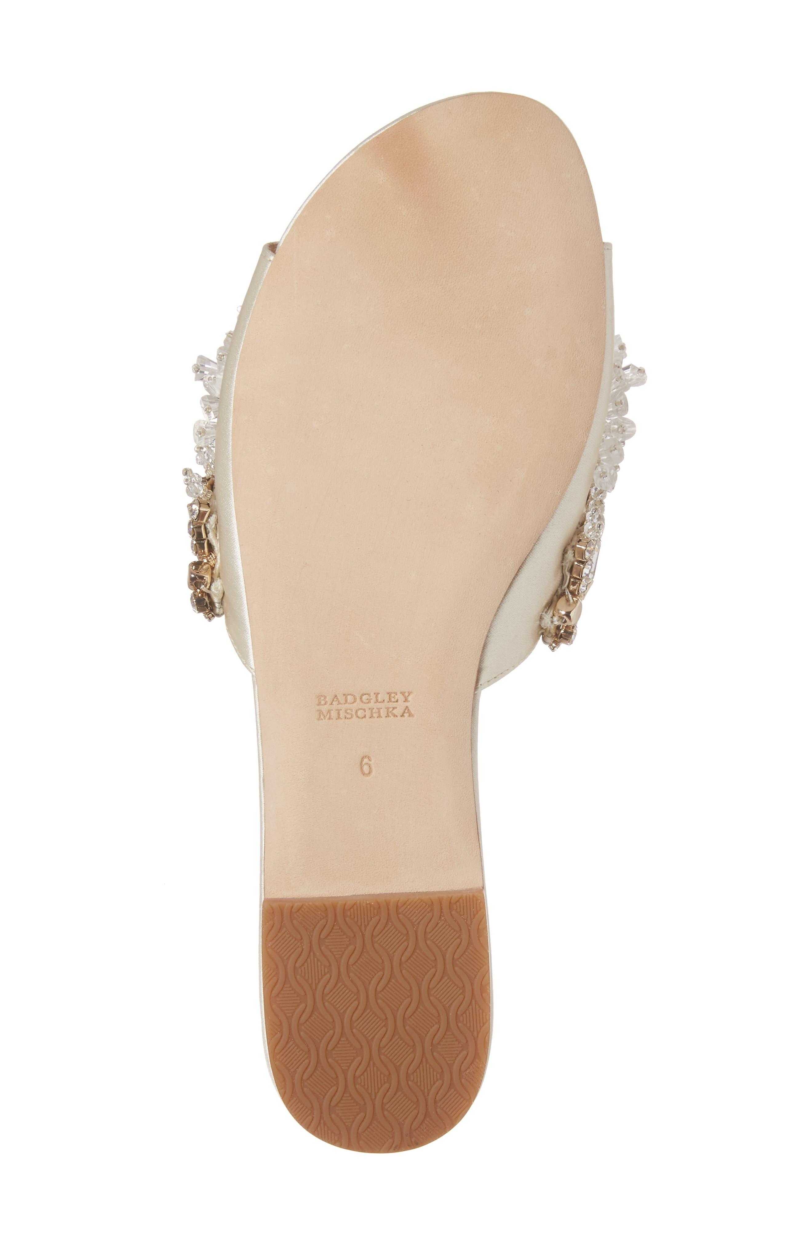 Alternate Image 6  - Badgley Mischka Kassandra Embellished Slide Sandal (Women)