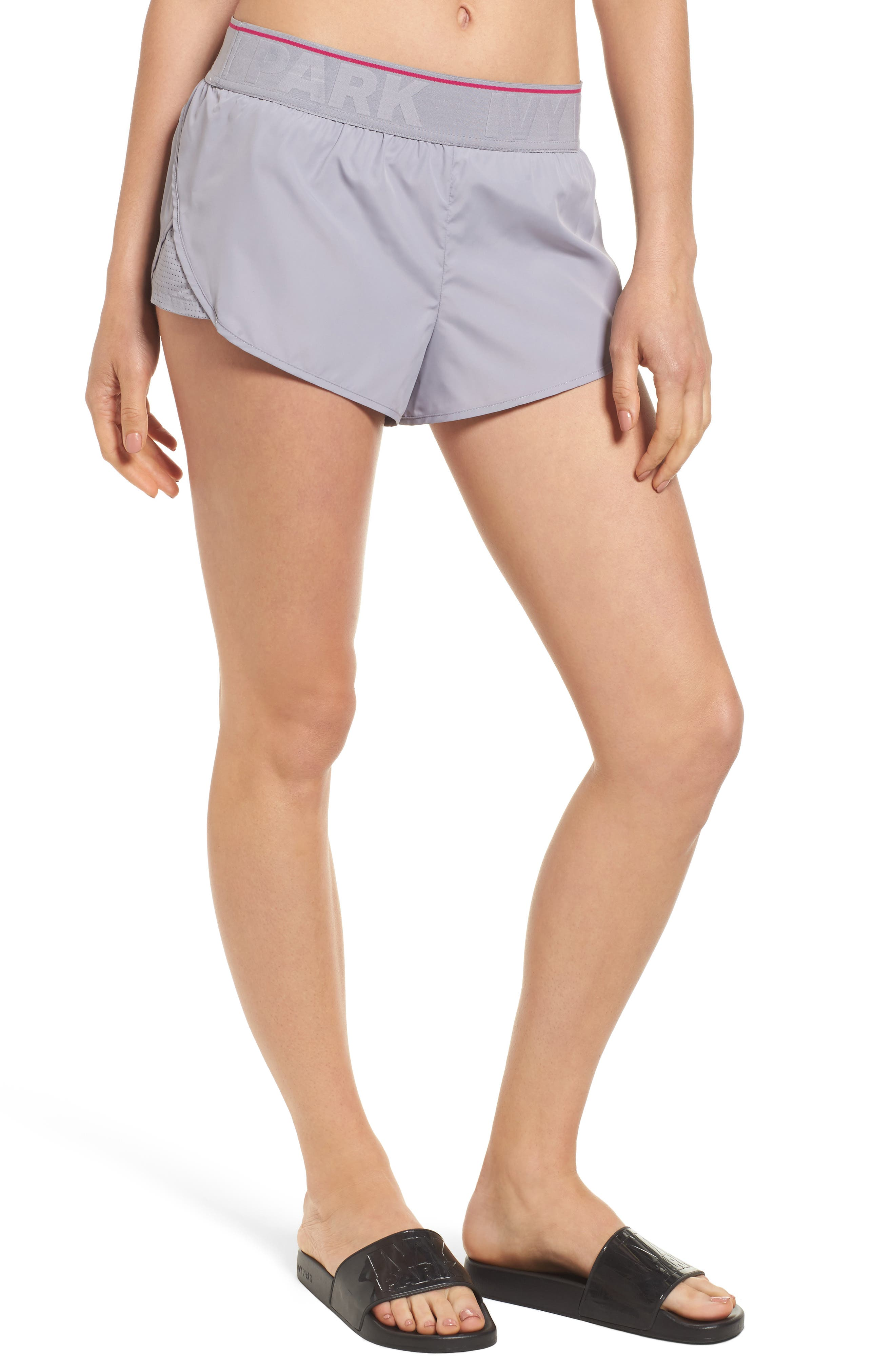 IVY PARK® Perforated Panel Runner Shorts