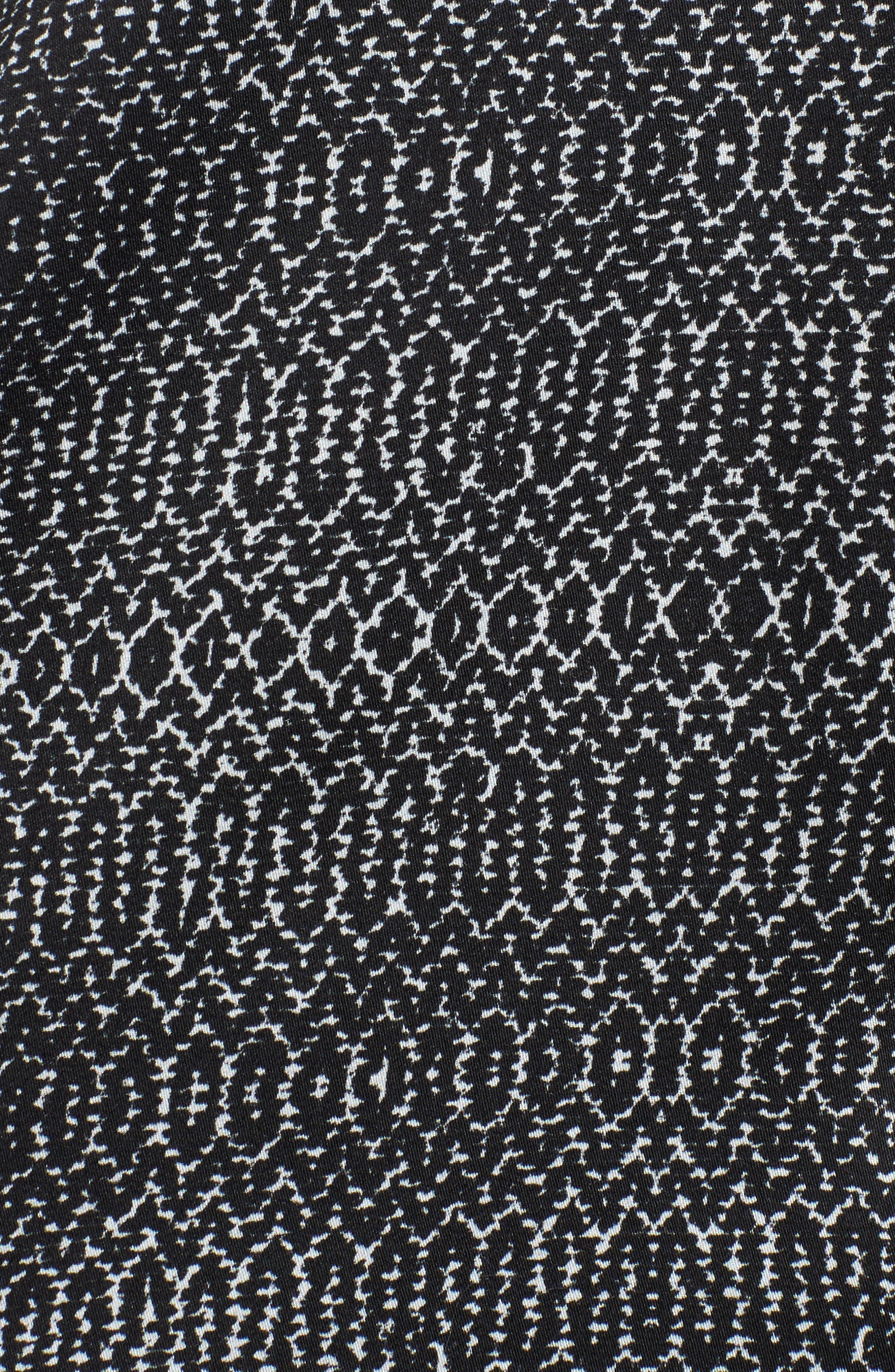 Alternate Image 6  - Velvet by Graham & Spencer Shirred Woven Print Top