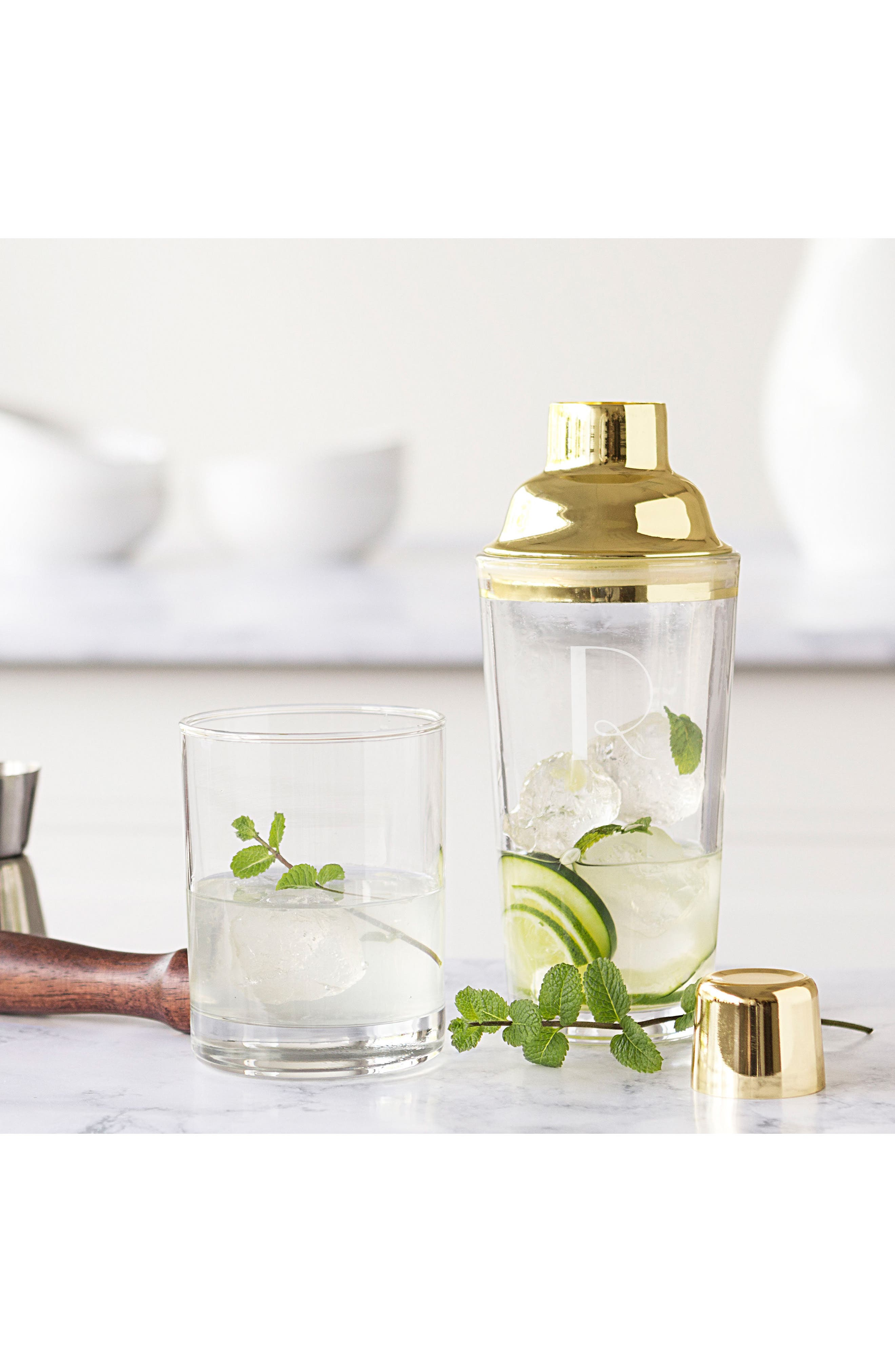 Alternate Image 4  - Cathy's Concepts Monogram Goldtone Cocktail Shaker