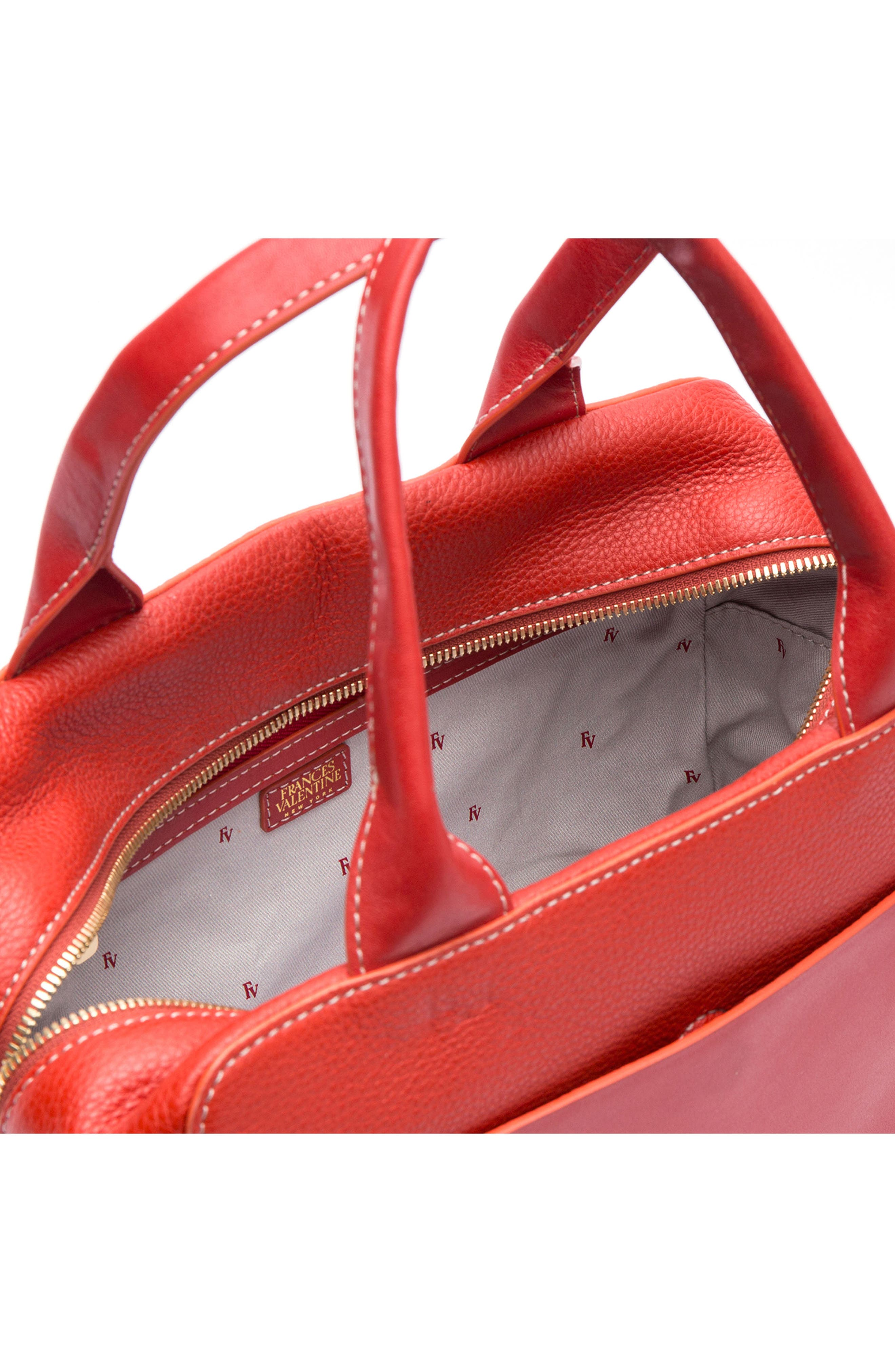 Medium Maddy Satchel,                             Alternate thumbnail 5, color,                             Coral