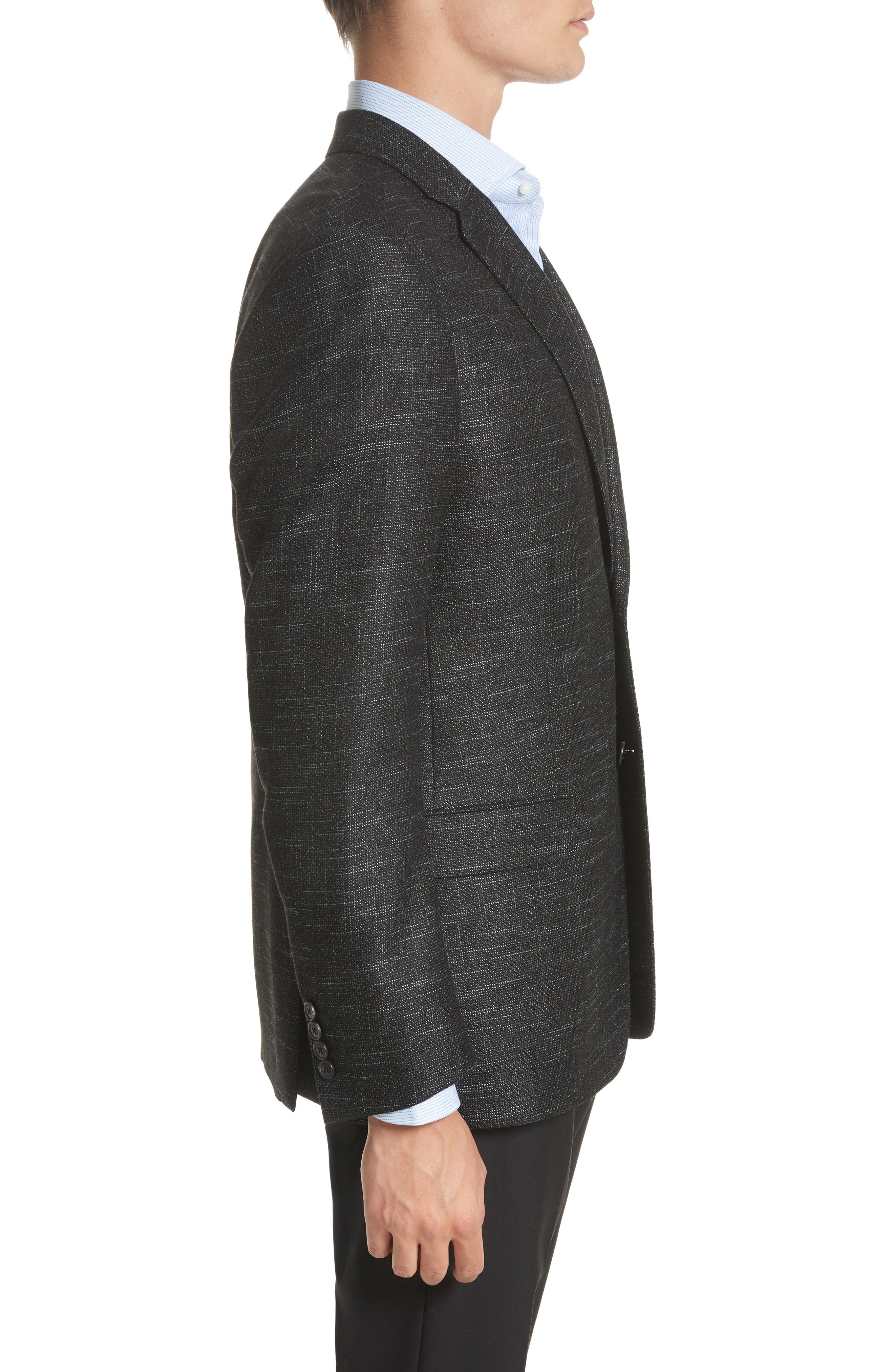 G-Line Trim Fit Wool Blend Blazer,                             Alternate thumbnail 3, color,                             Celery