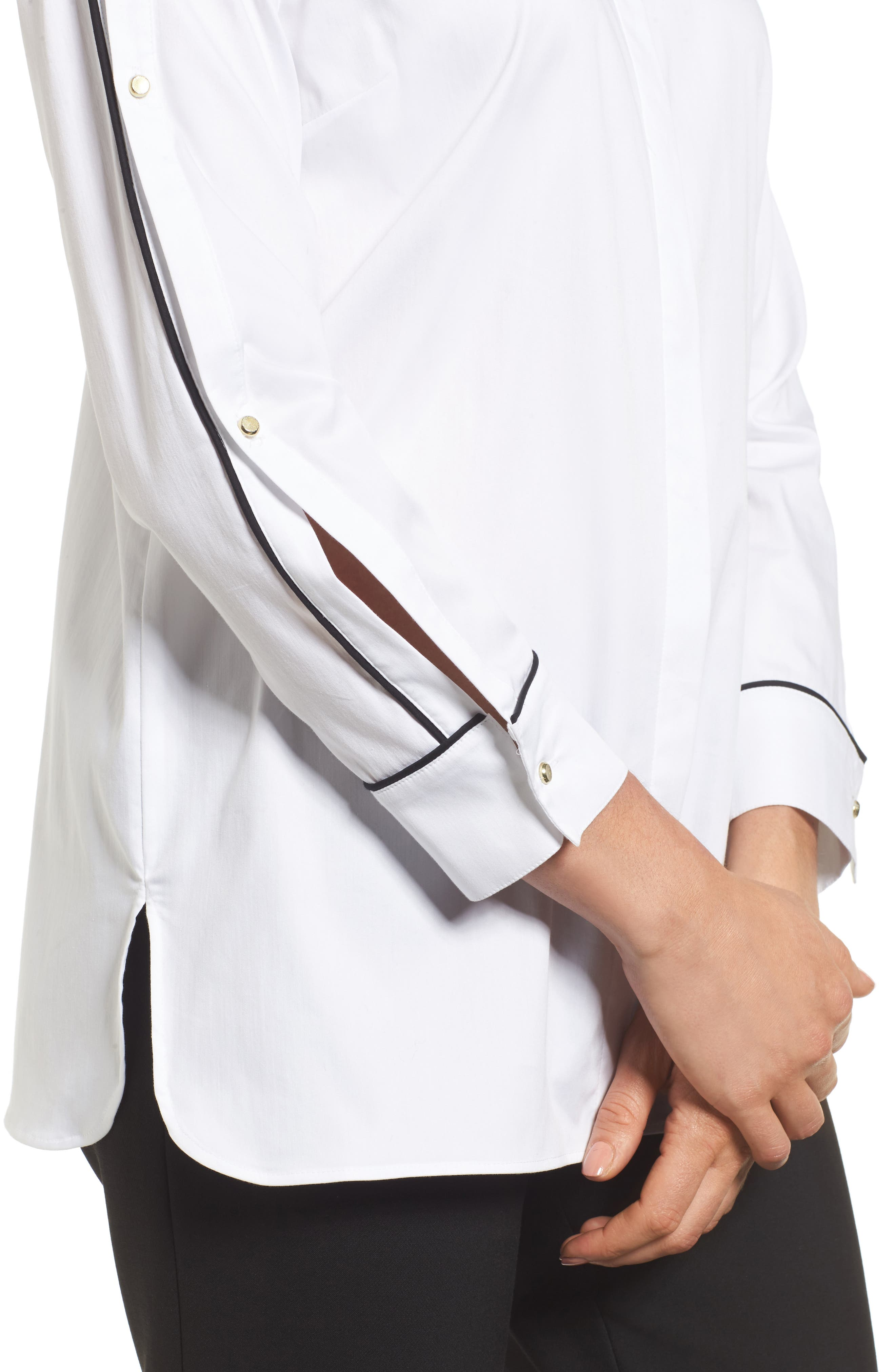 Alternate Image 4  - Ming Wang Split Sleeve Shirt