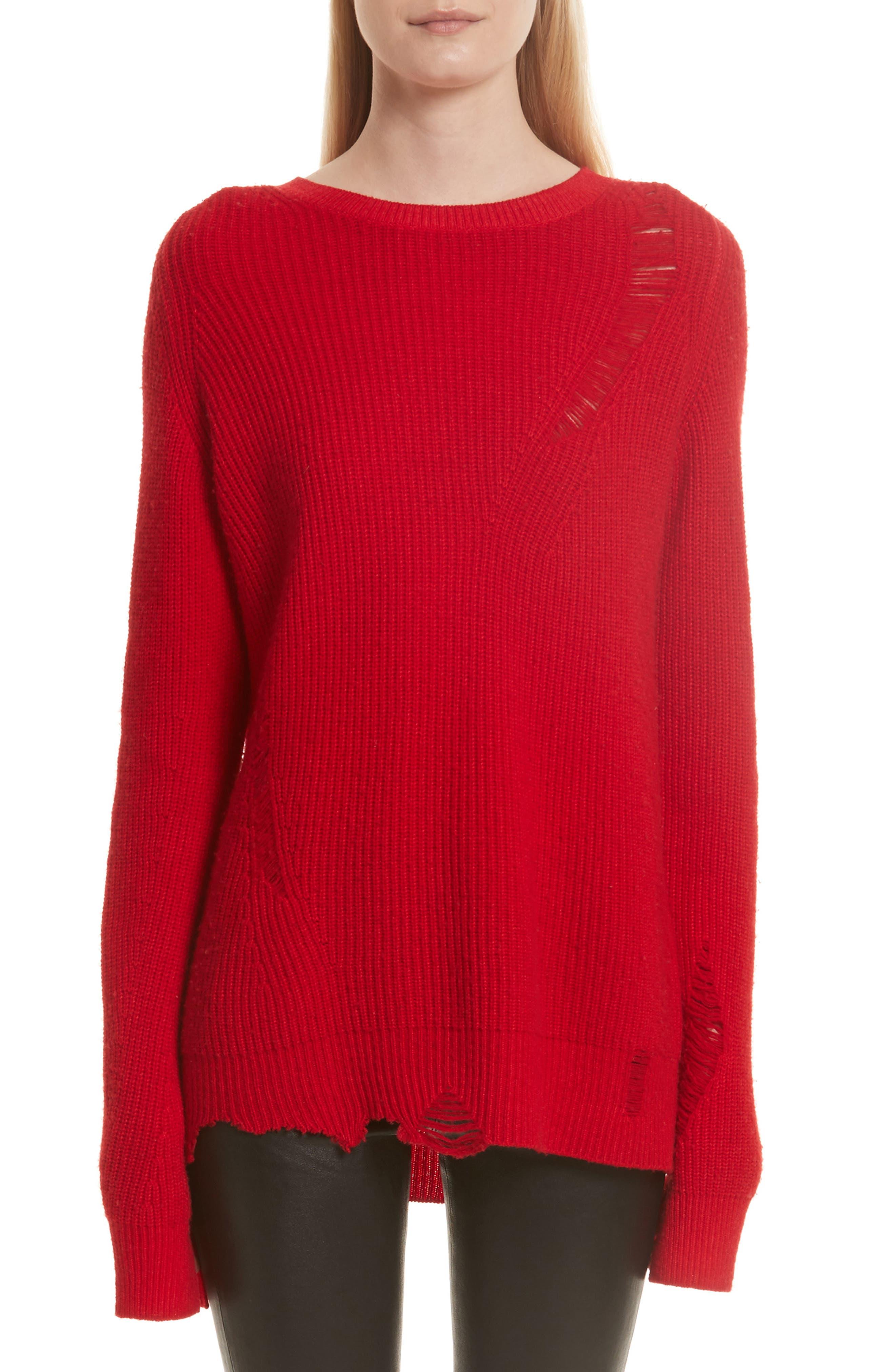 Main Image - Helmut Lang Distressed Sweater
