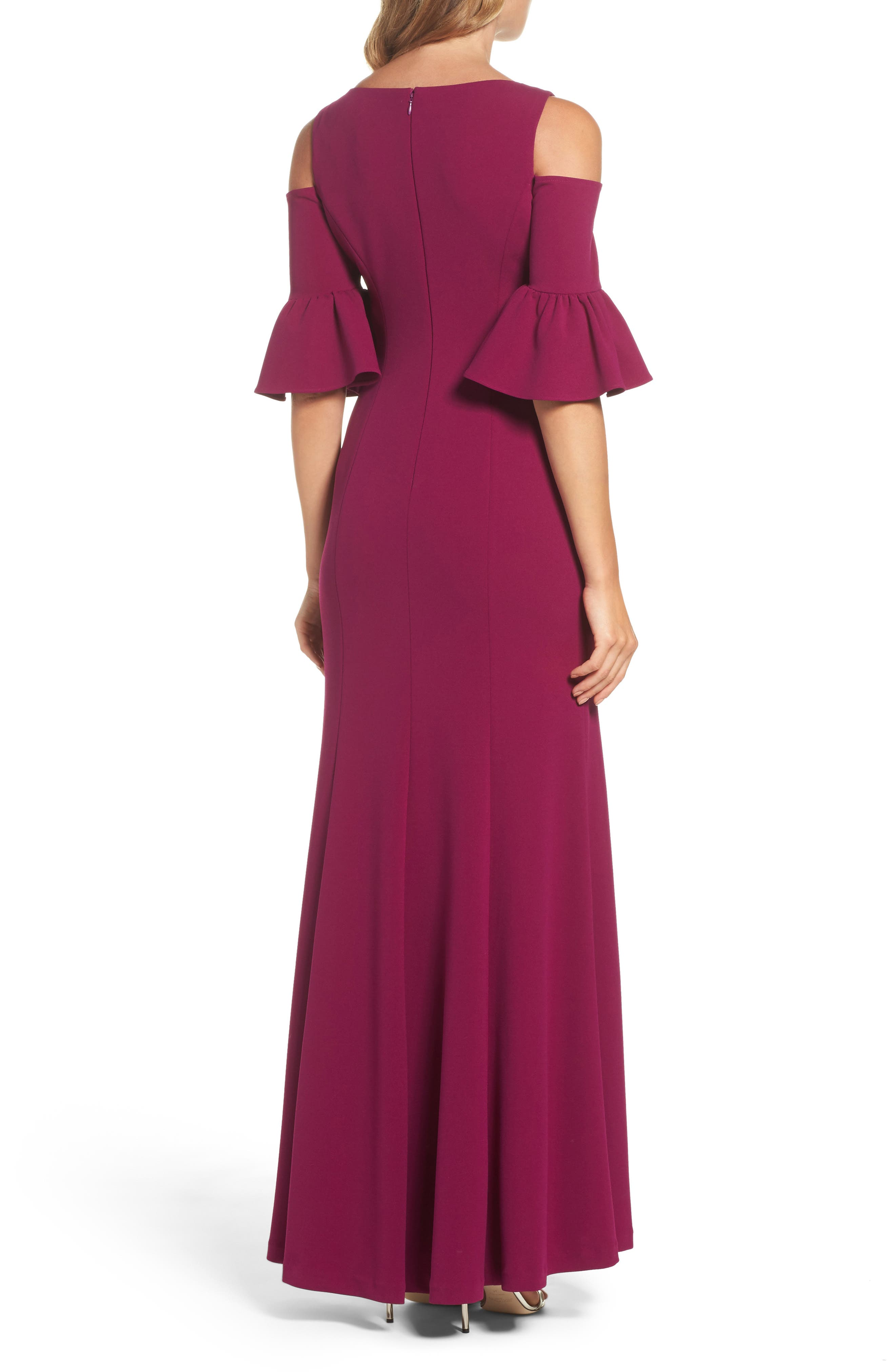 Alternate Image 2  - Adrianna Papell Cold Shoulder Gown