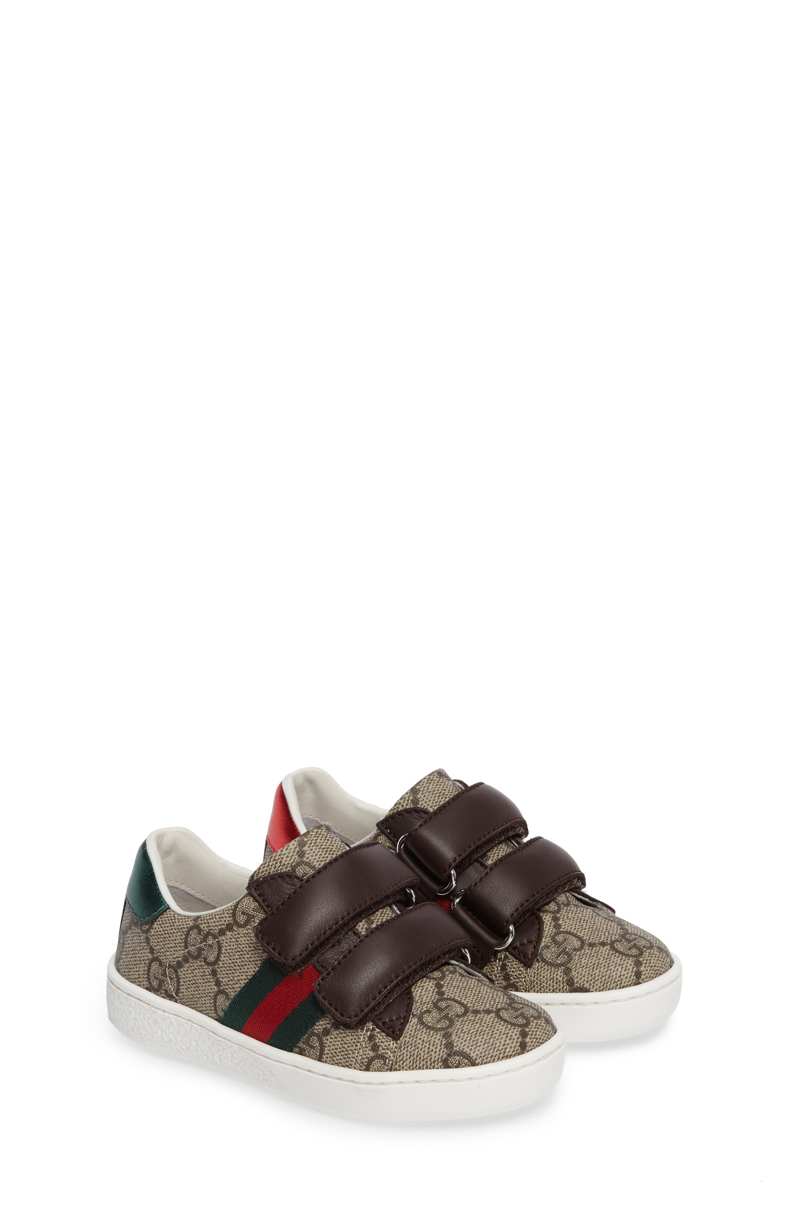 Alternate Image 2  - Gucci New Ace Monogram Sneaker (Baby, Walker, Toddler, Little Kid & Big Kid)