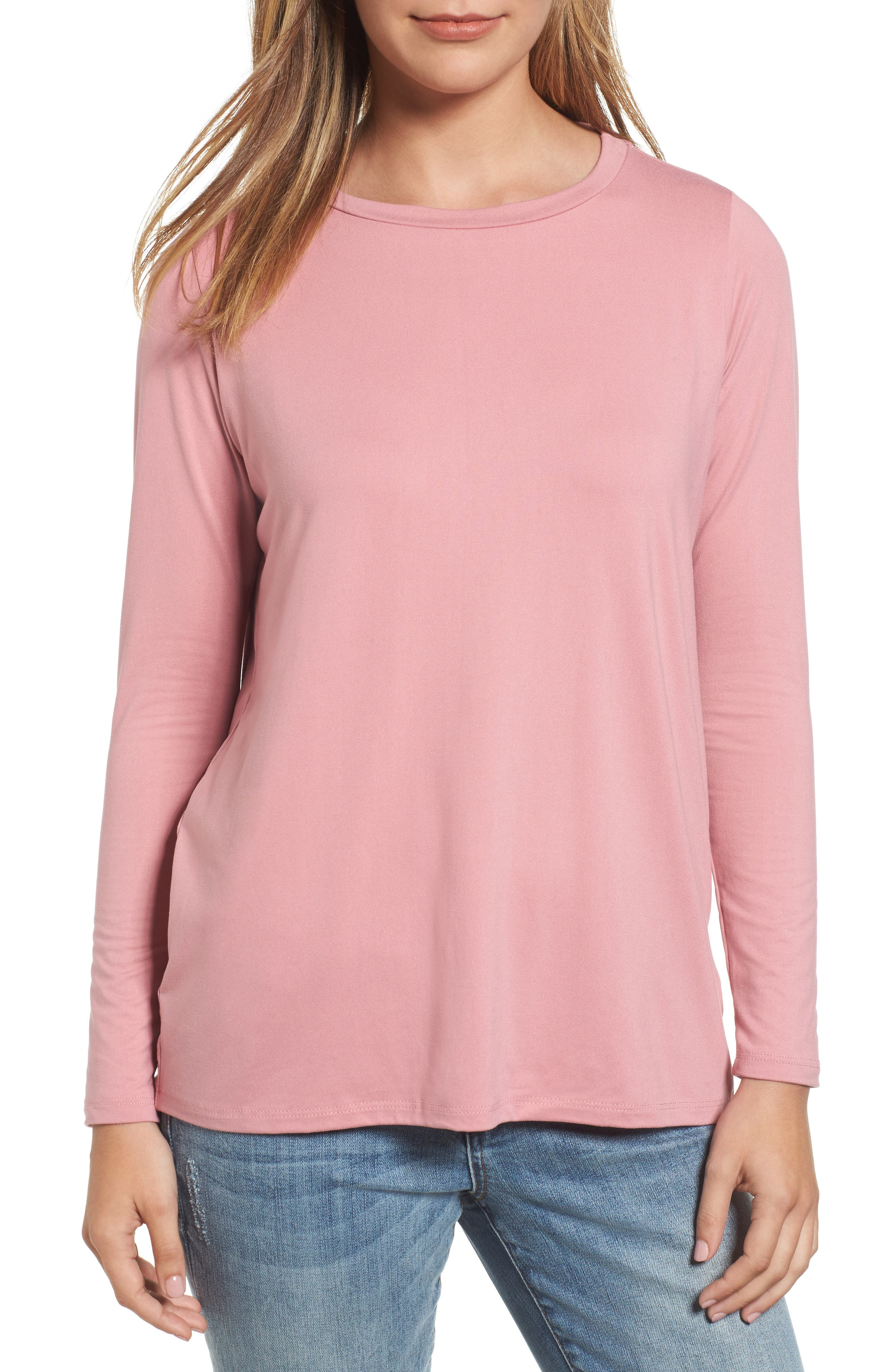 Butter High/Low Top,                         Main,                         color, Blush