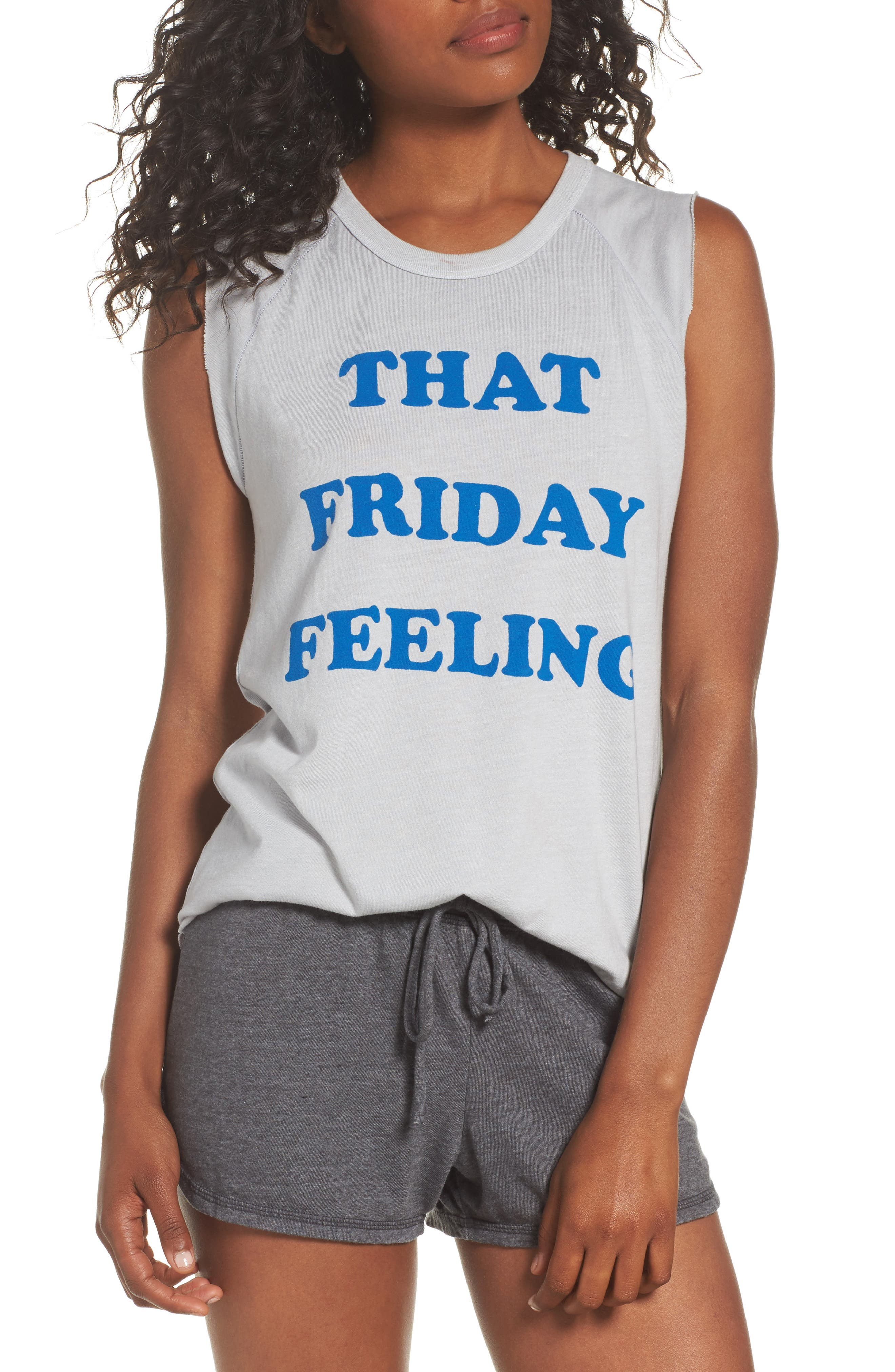 That Friday Feeling Tank,                             Main thumbnail 1, color,                             Lunar Rock