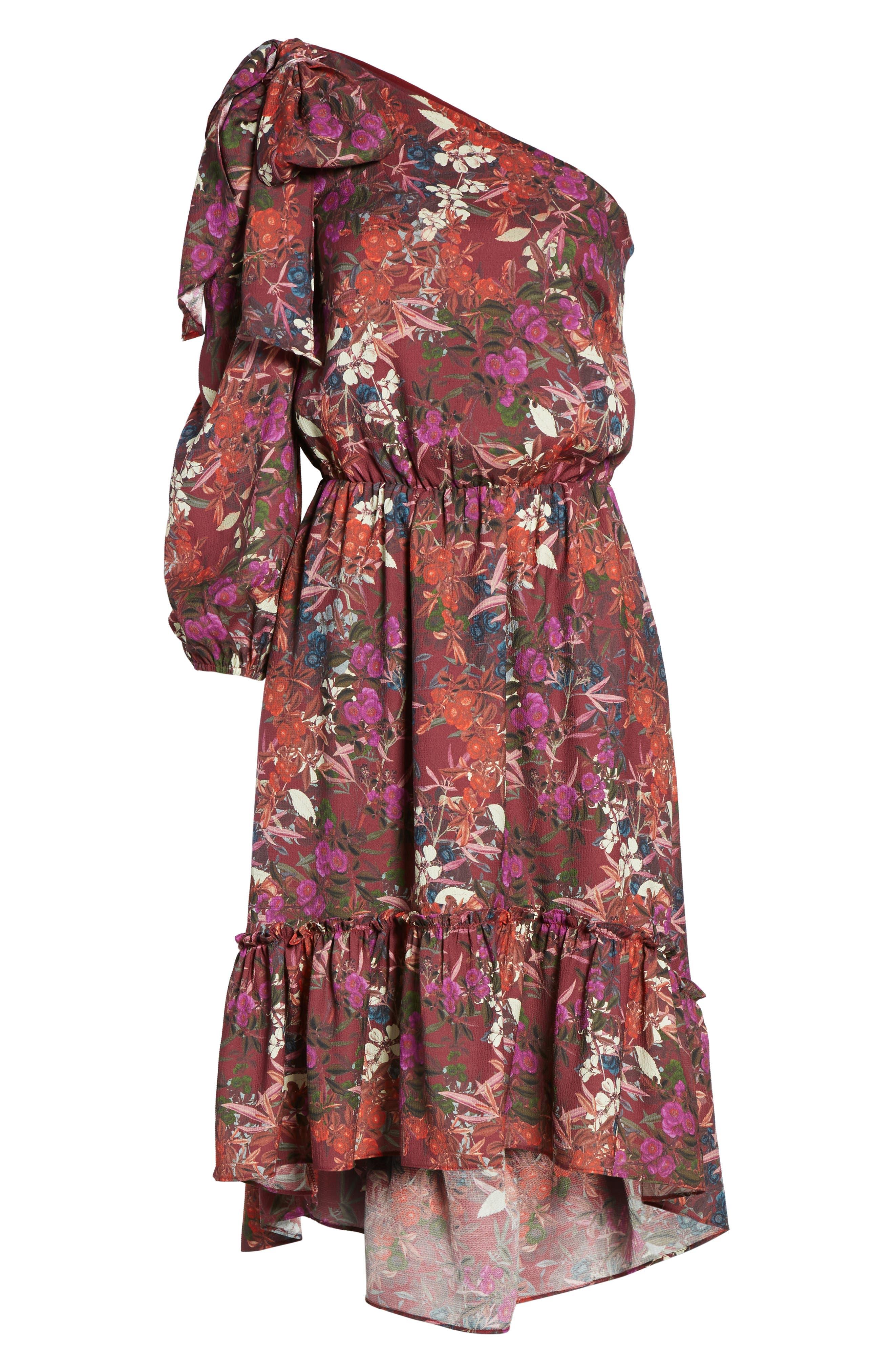 Alternate Image 6  - Chelsea28 Asymmetrical Tiered Blouson Dress