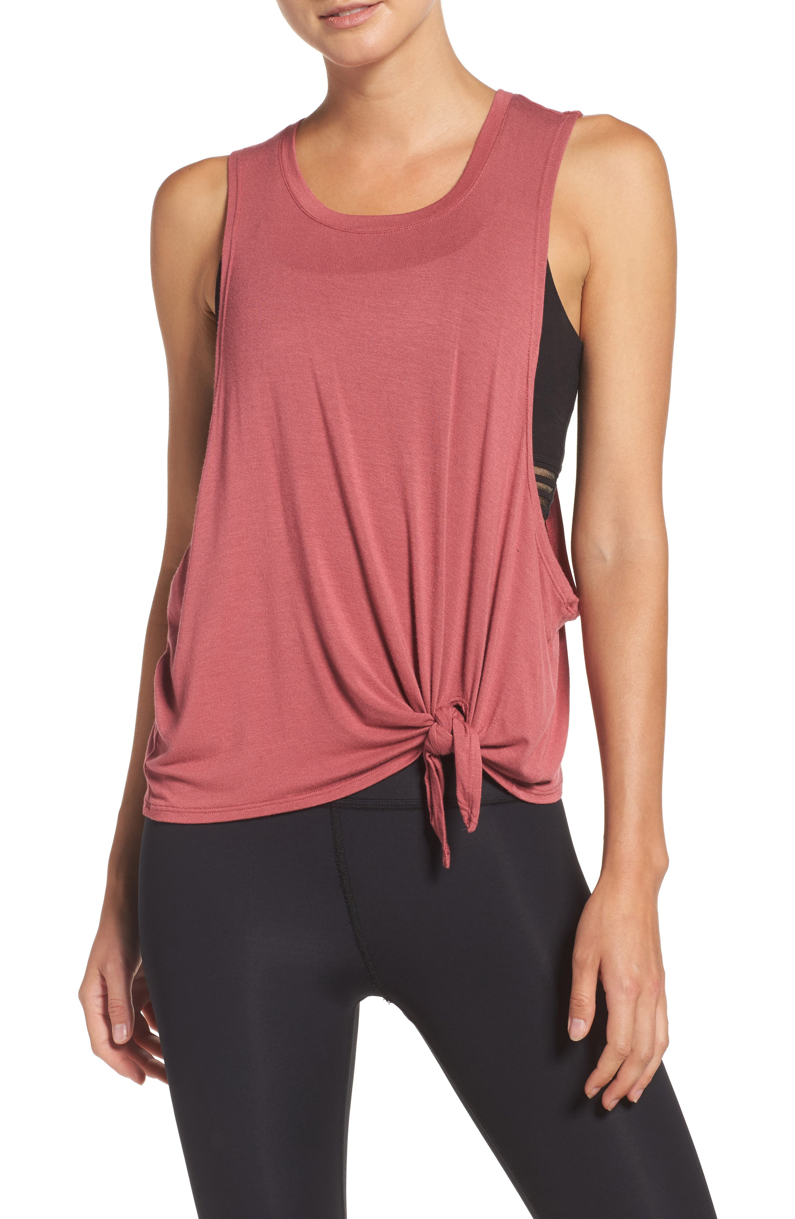 All Tied Up Muscle Tank,                         Main,                         color, Imperial Rose